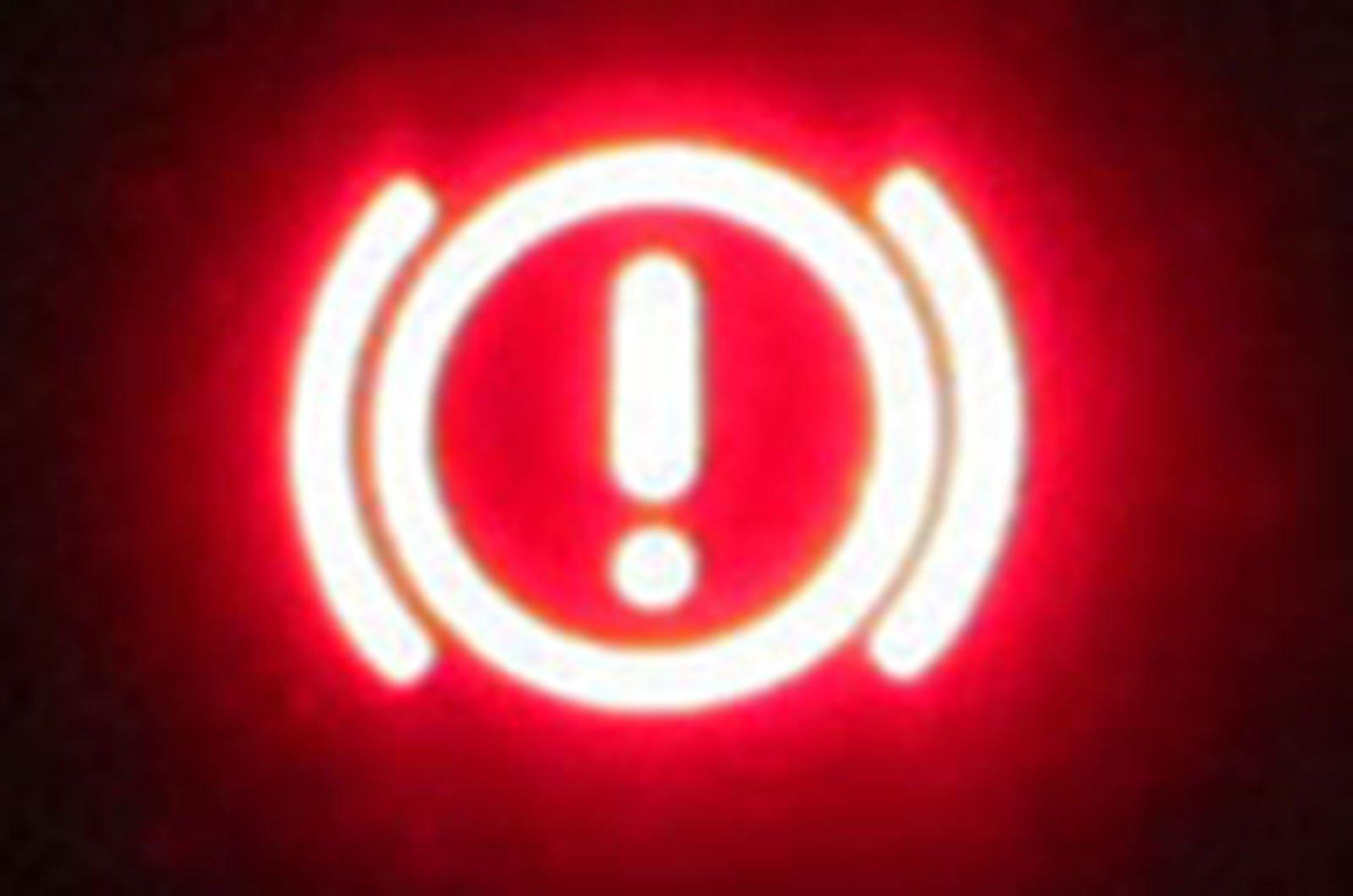Brakes warning light
