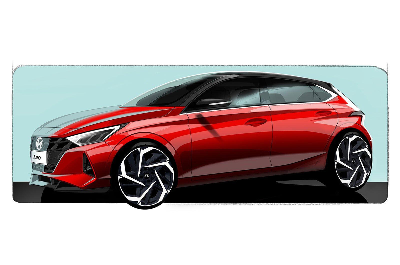 Hyundai i20 sketch