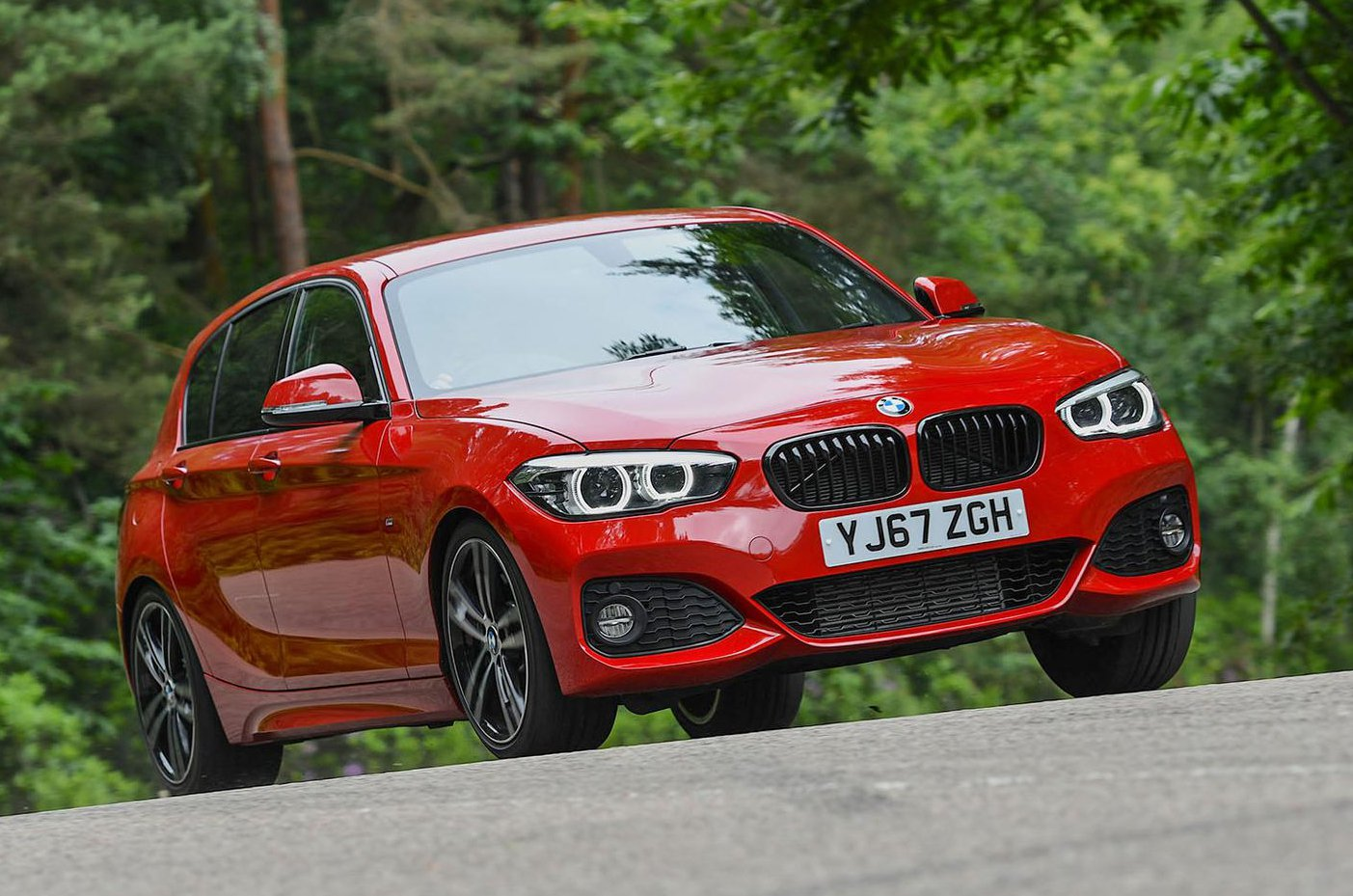BMW 1 Series front - red