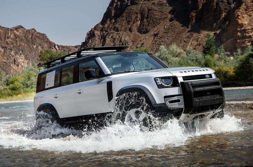 2020 Land Rover Defender wading