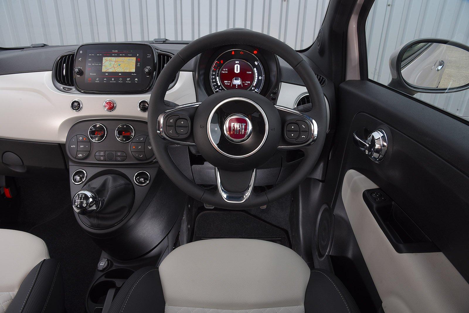 Fiat 500C 2020 RHD dashboard