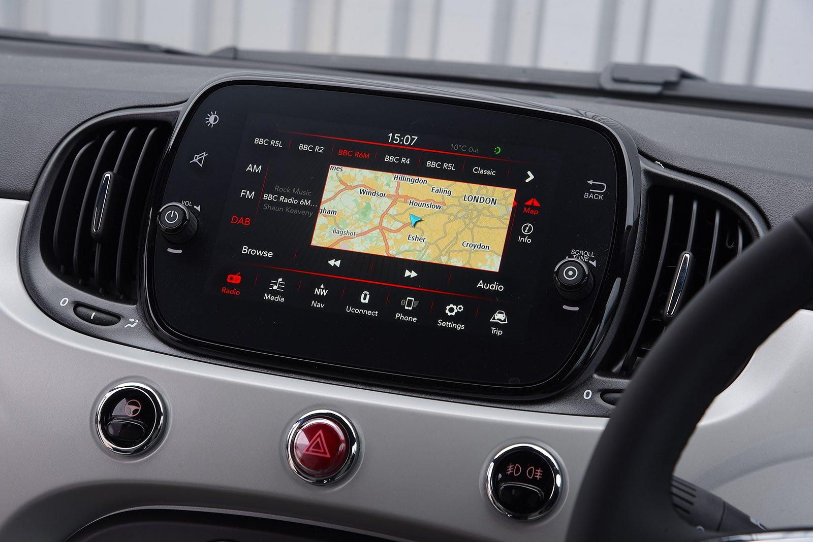 Fiat 500C 2020 RHD infotainment