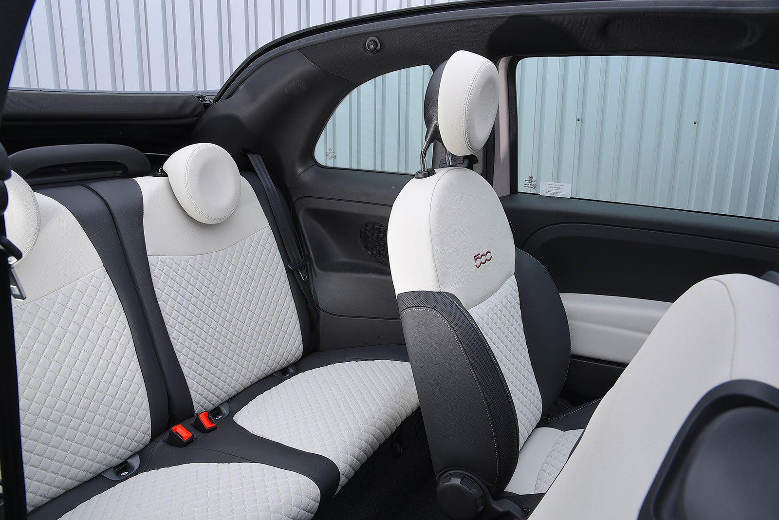 Fiat 500C 2020 RHD rear seats