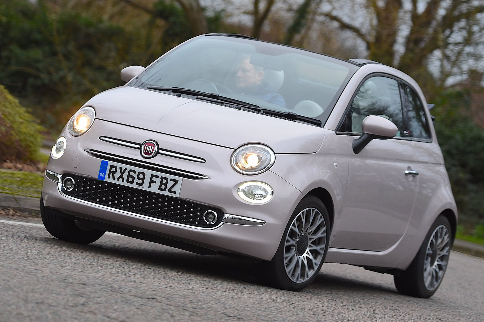 Fiat 500C 2020 RHD front tracking