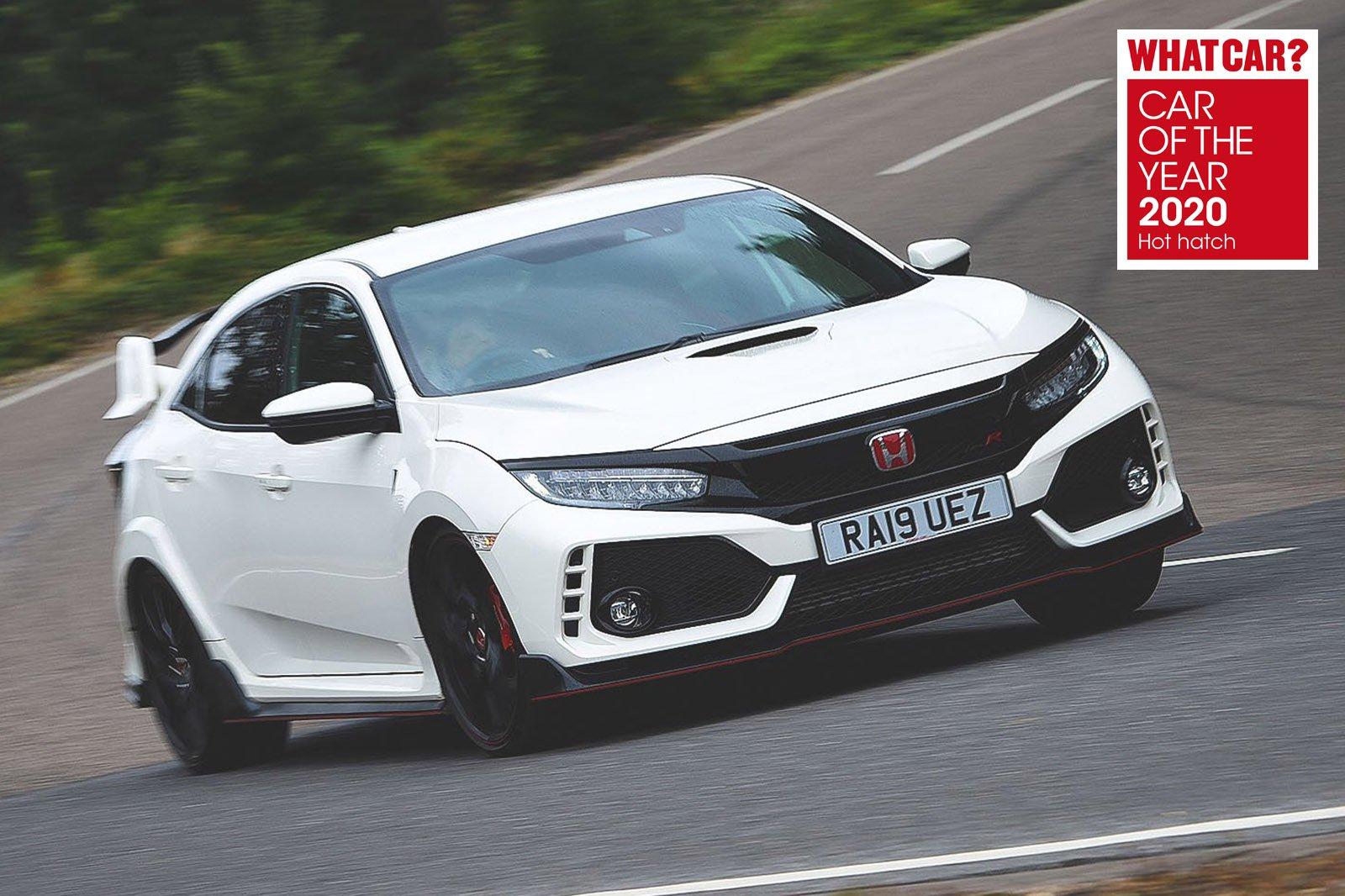 Honda Civic Type R with What Car? Awards logo