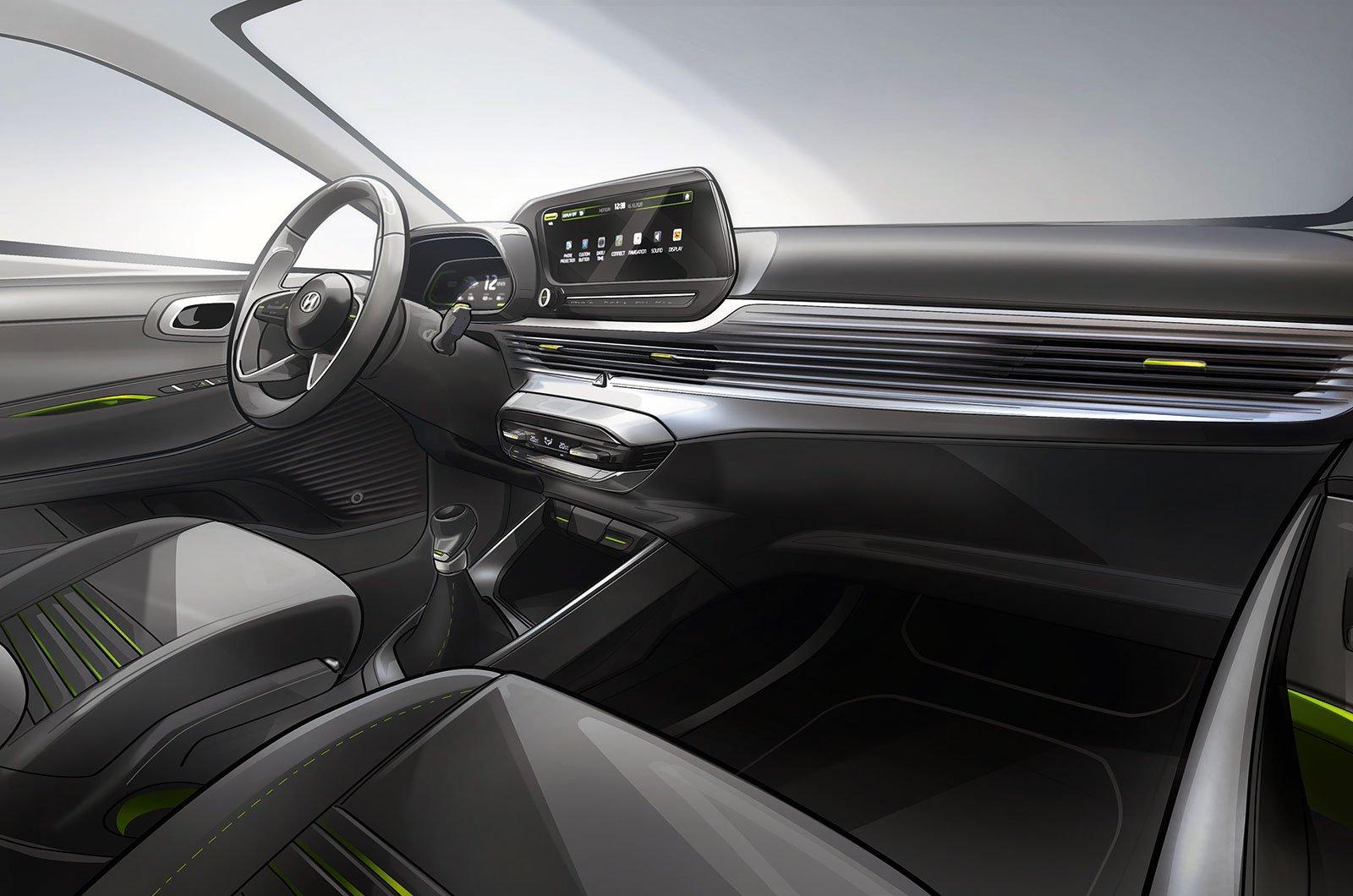 Hyundai i20 interior sketch