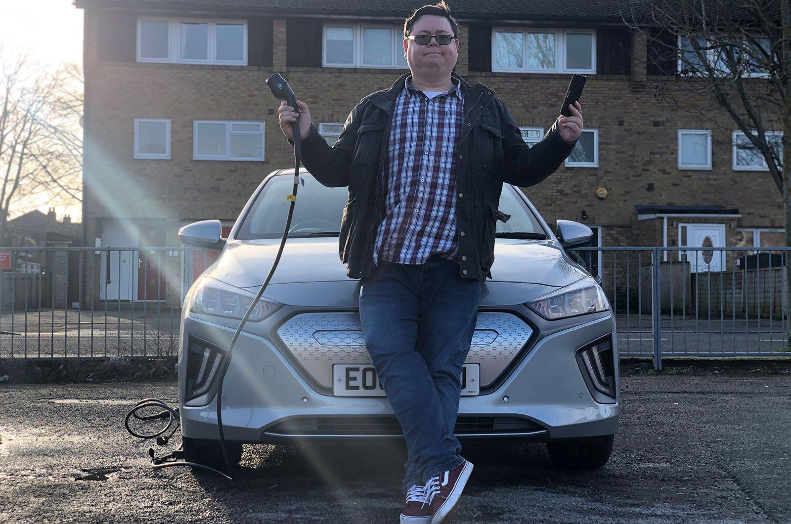 Darren with Hyundai Ioniq charging