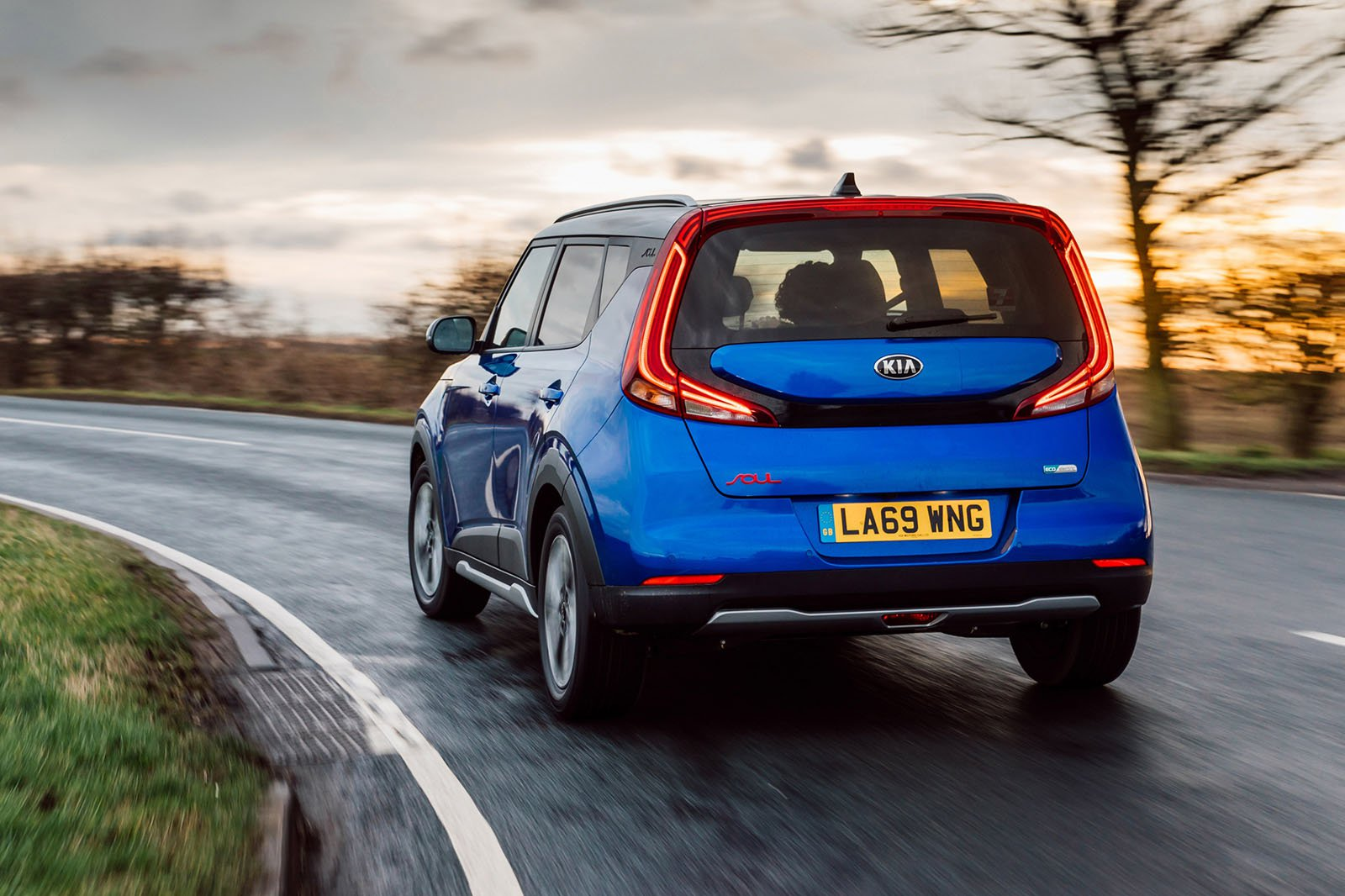Kia Soul EV 2020 RHD rear tracking