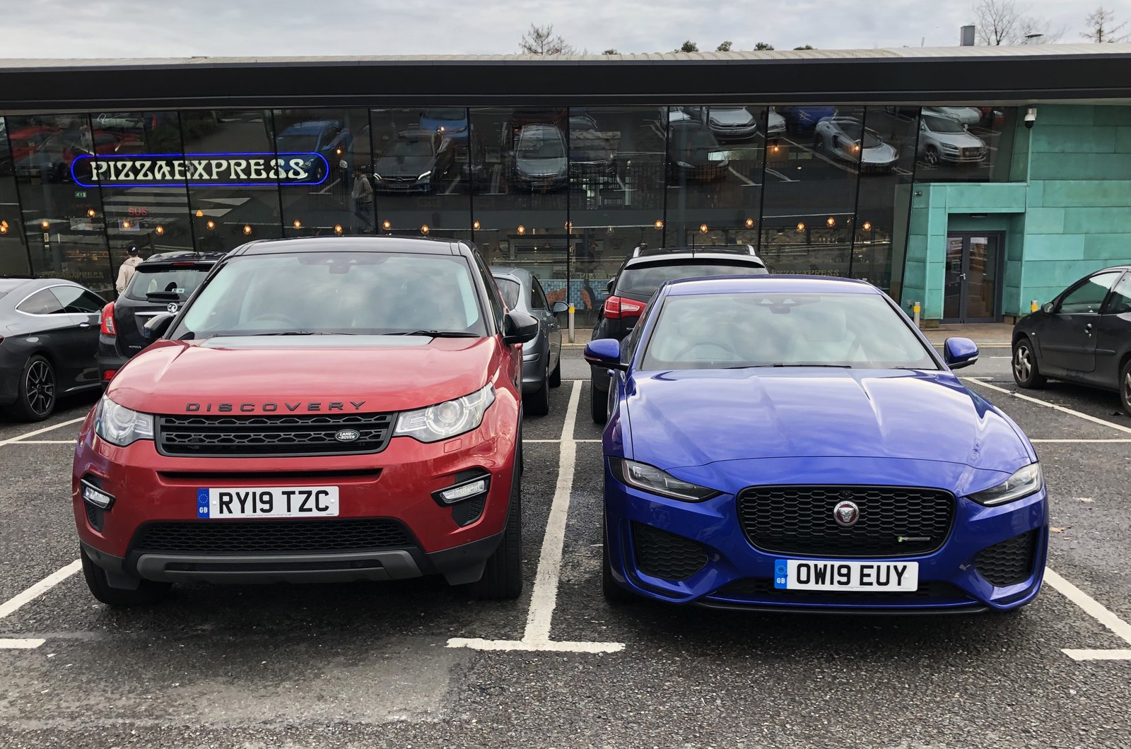 LT Jaguar XE with Land Rover Discovery Sport
