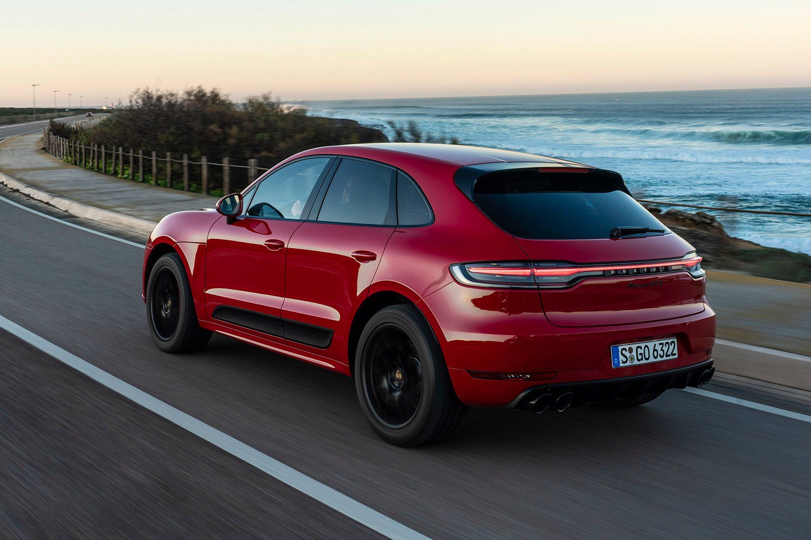 2020 Porsche Macan GTS rear driving
