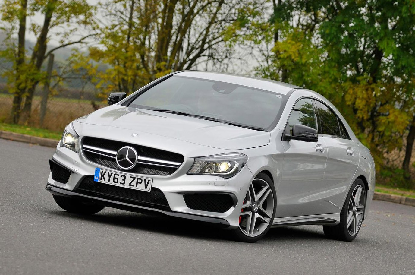 Mercedes CLA front - 63 plate