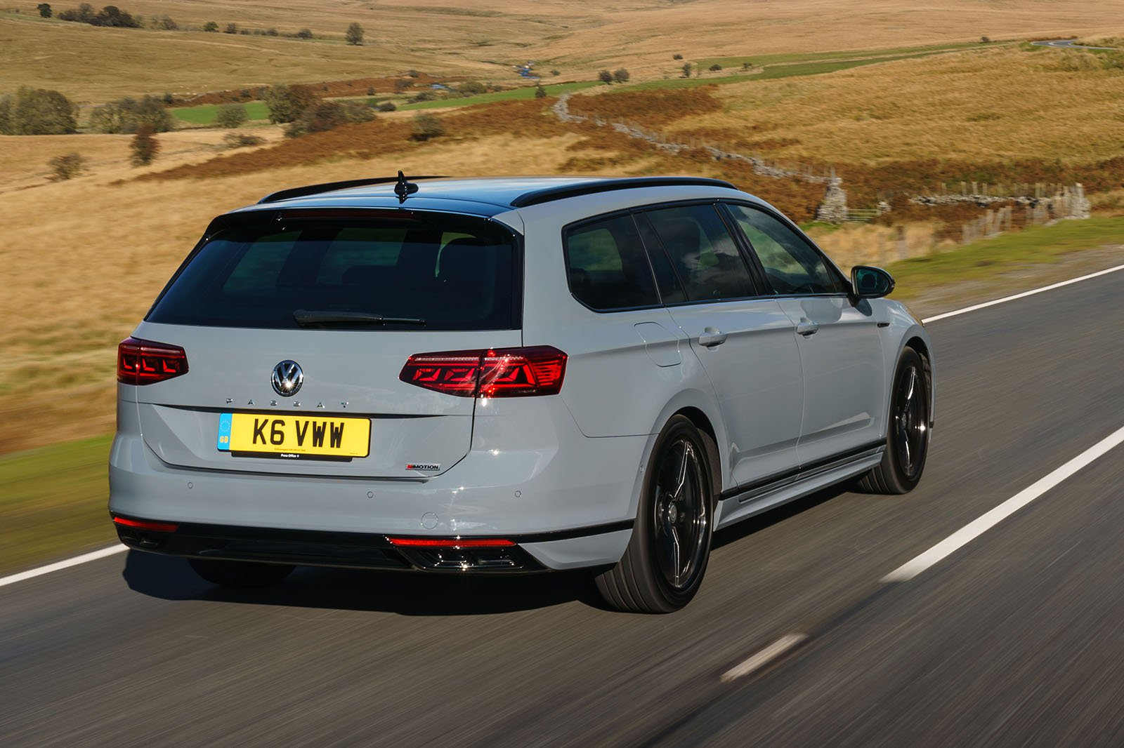 Passat Estate R-line 2020 RHD rear right tracking
