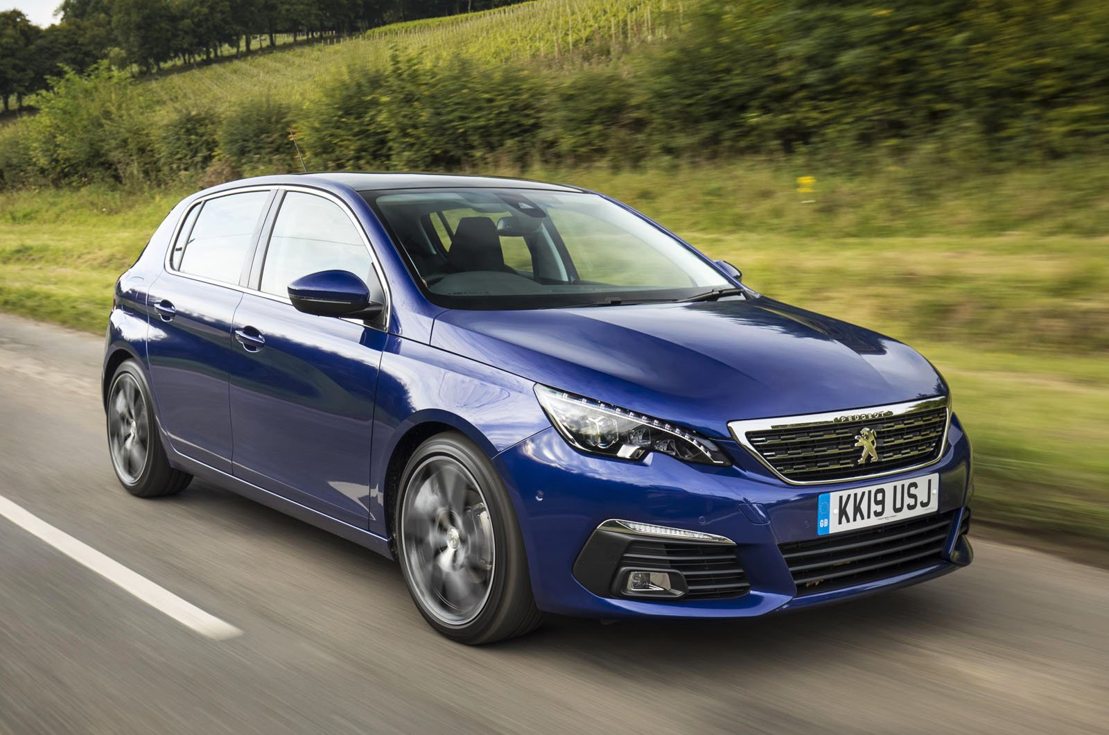 Peugeot 308 front - 19 plate