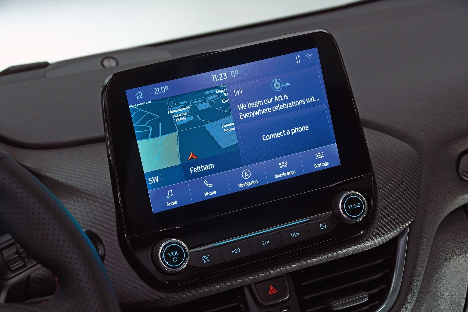 Ford Puma infotainment