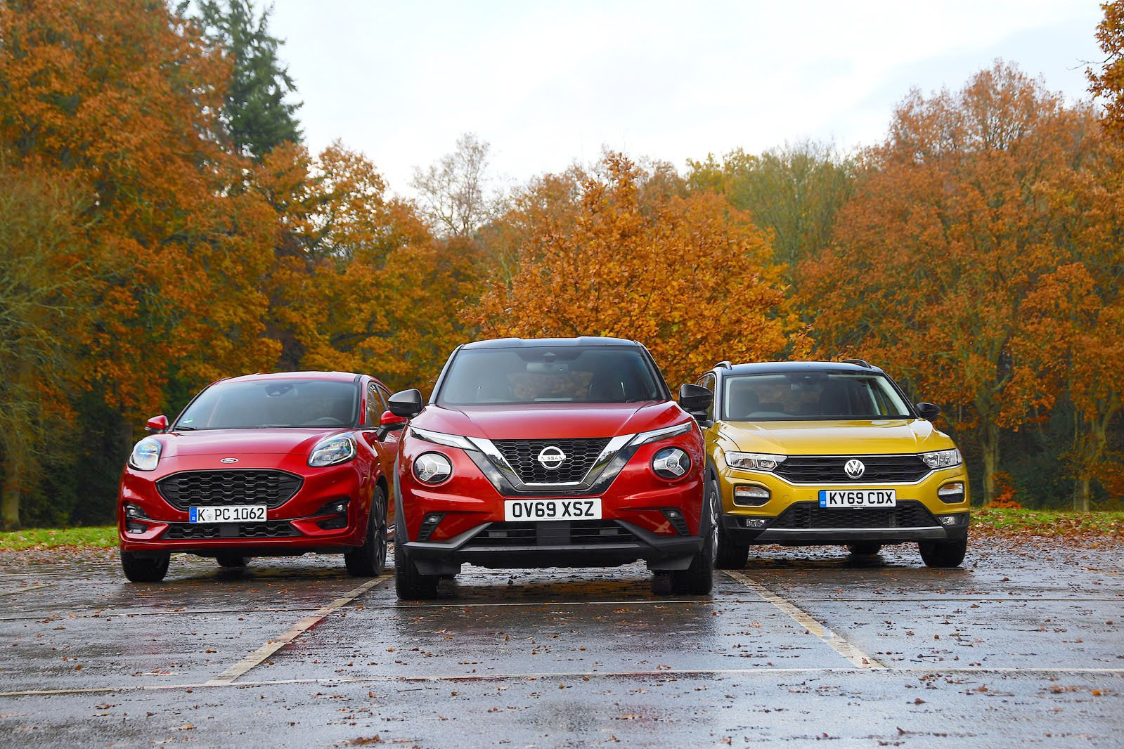 New Ford Puma & Nissan Juke vs Volkswagen T-Roc