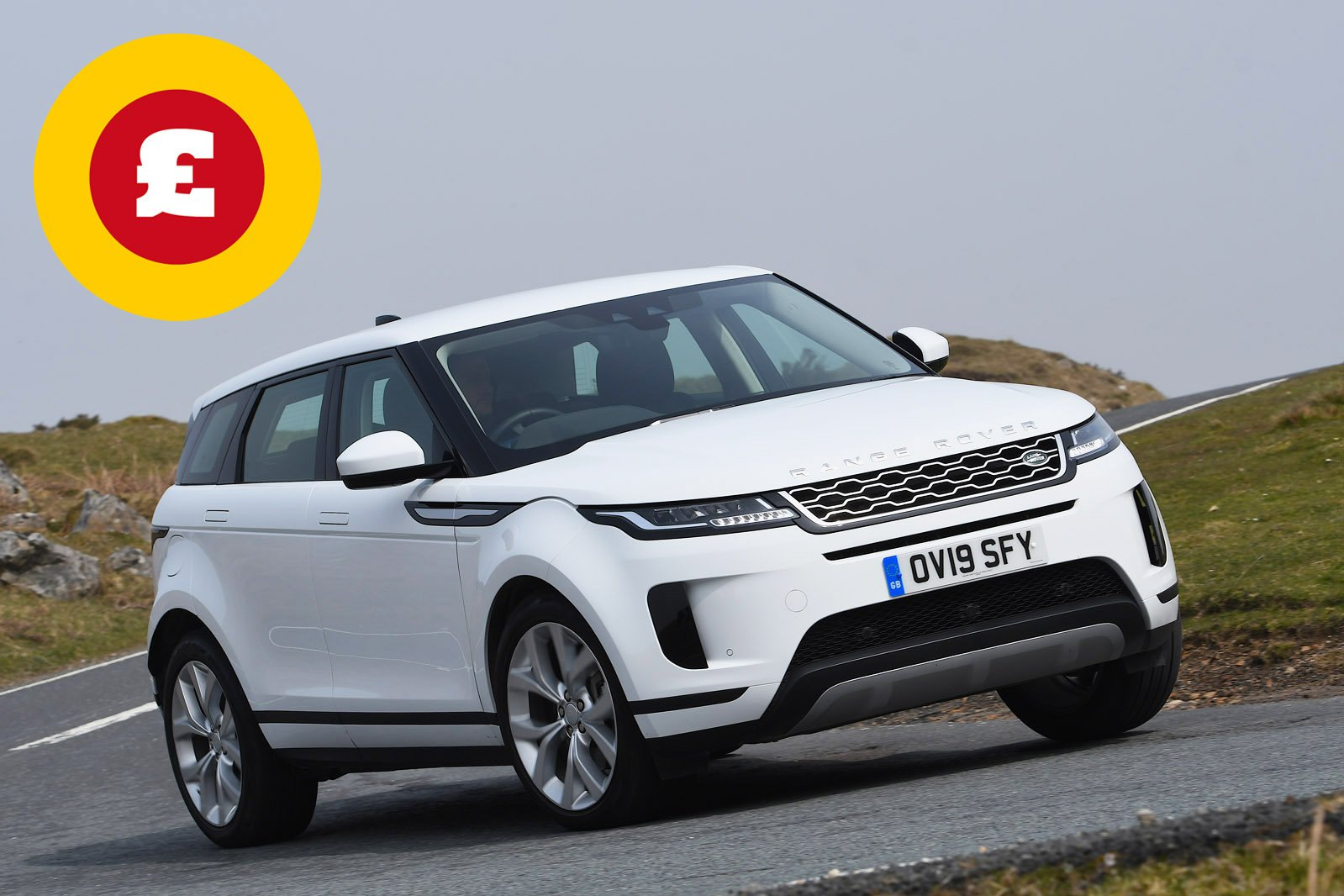 Range Rover Evoque with Target Price logo