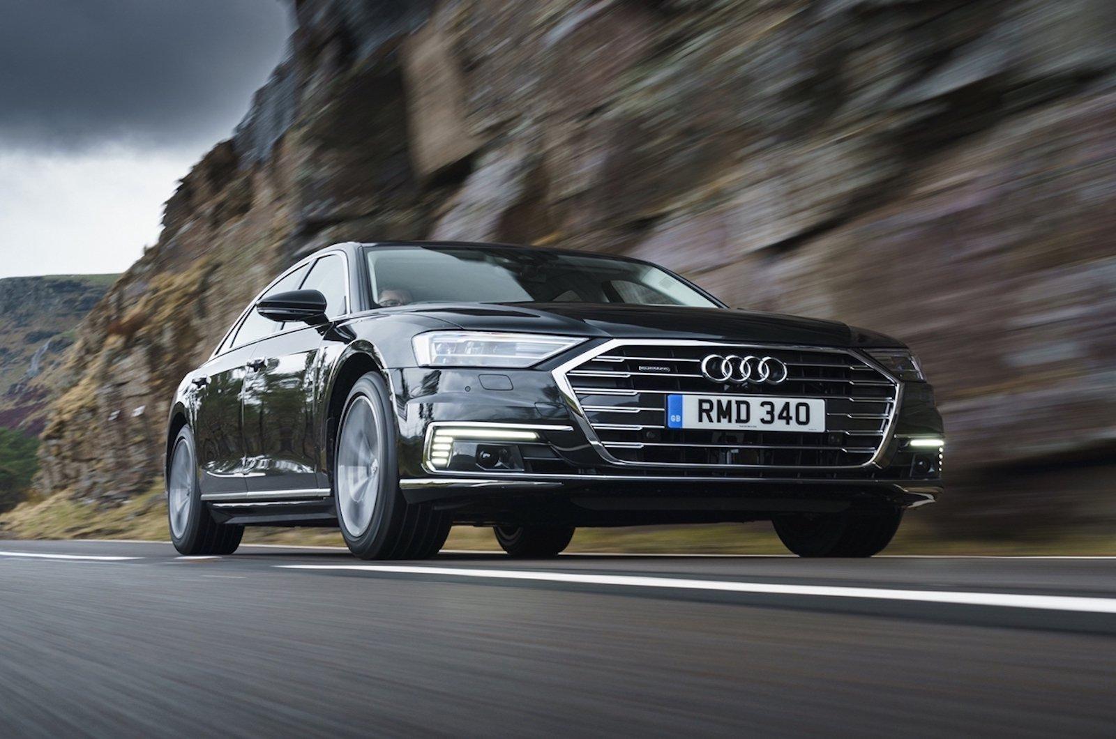 2020 Audi A8L low front