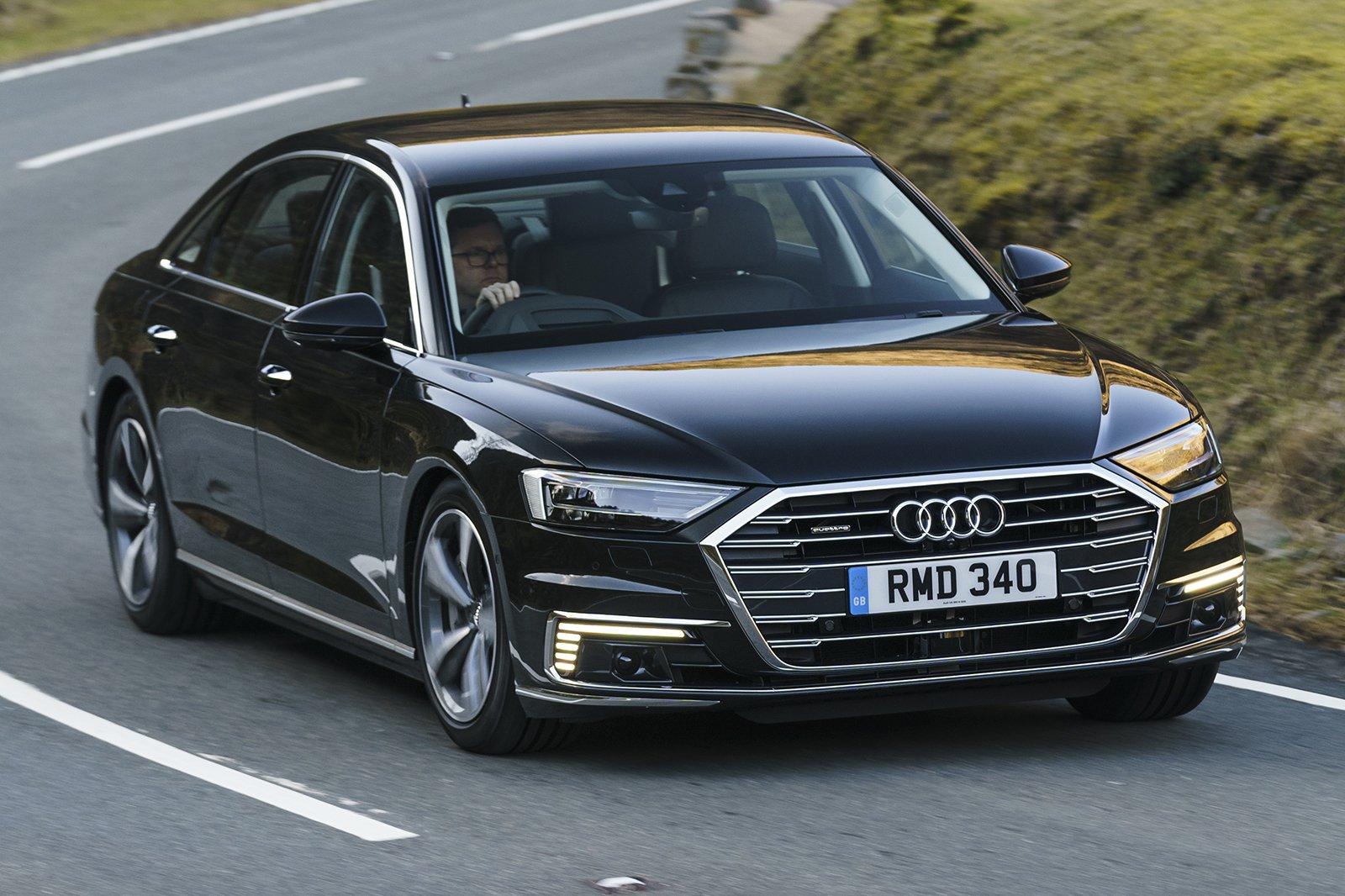 2020 Audi A8 L front cornering
