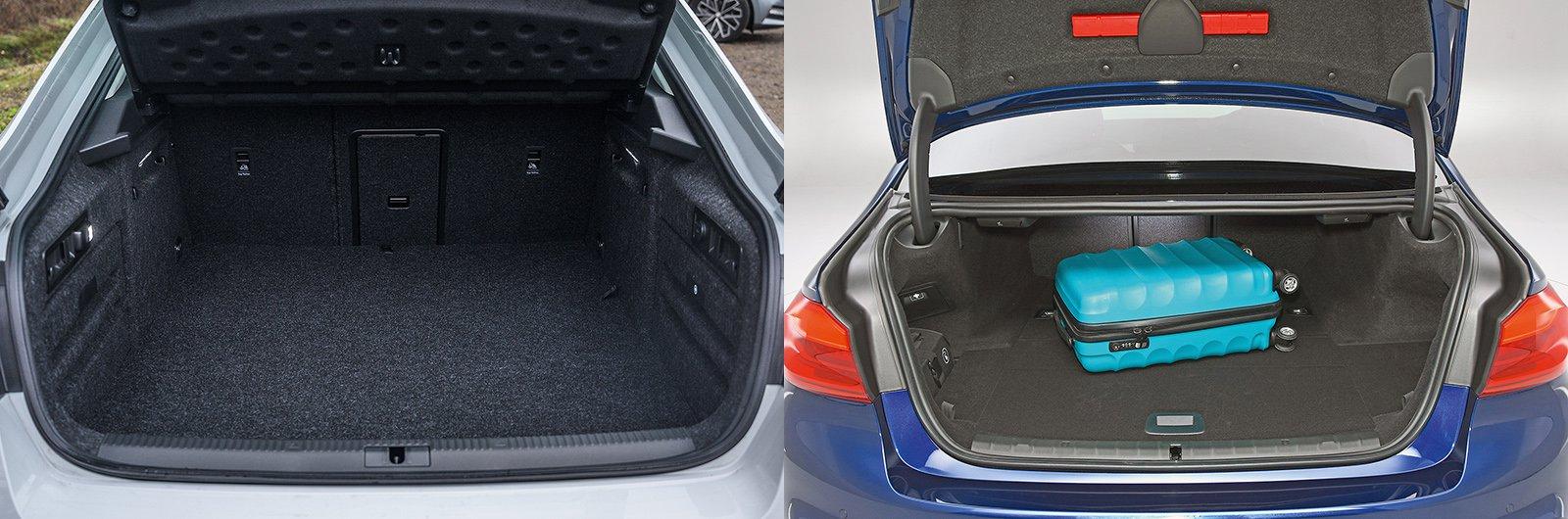 New Skoda Superb iV vs used BMW 530e: boot