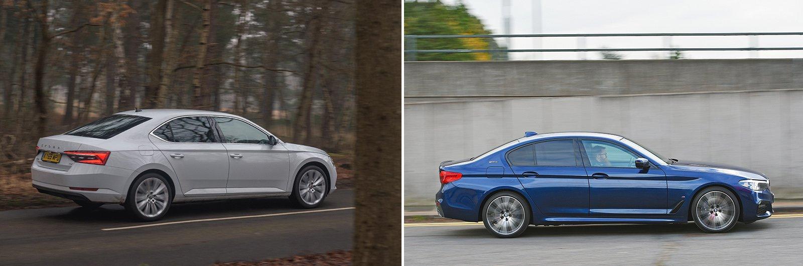 New Skoda Superb iV vs used BMW 530e: – driving