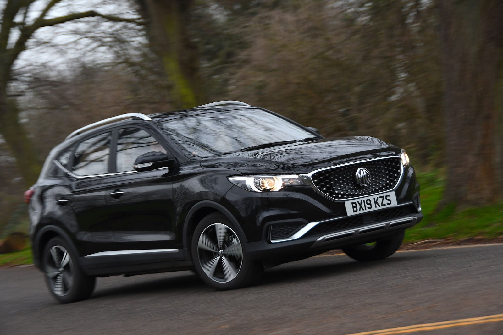 MG ZS EV driving