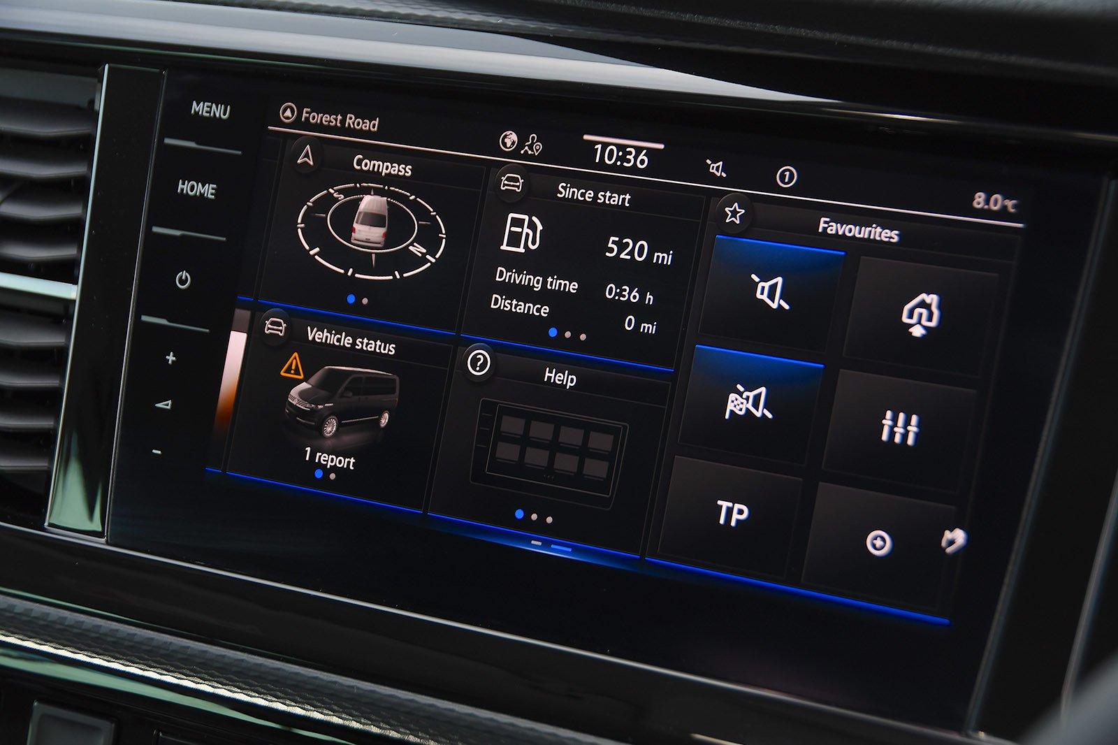 Volkswagen Caravelle 2020 RHD infotainment