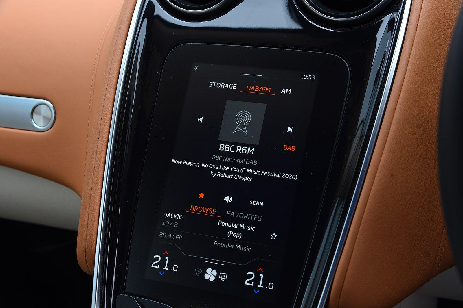 McLaren GT 2020 RHD infotainment