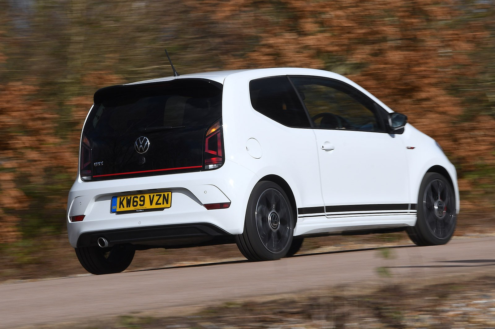 Volkswagen Up GTI 2020 RHD wide rear panning