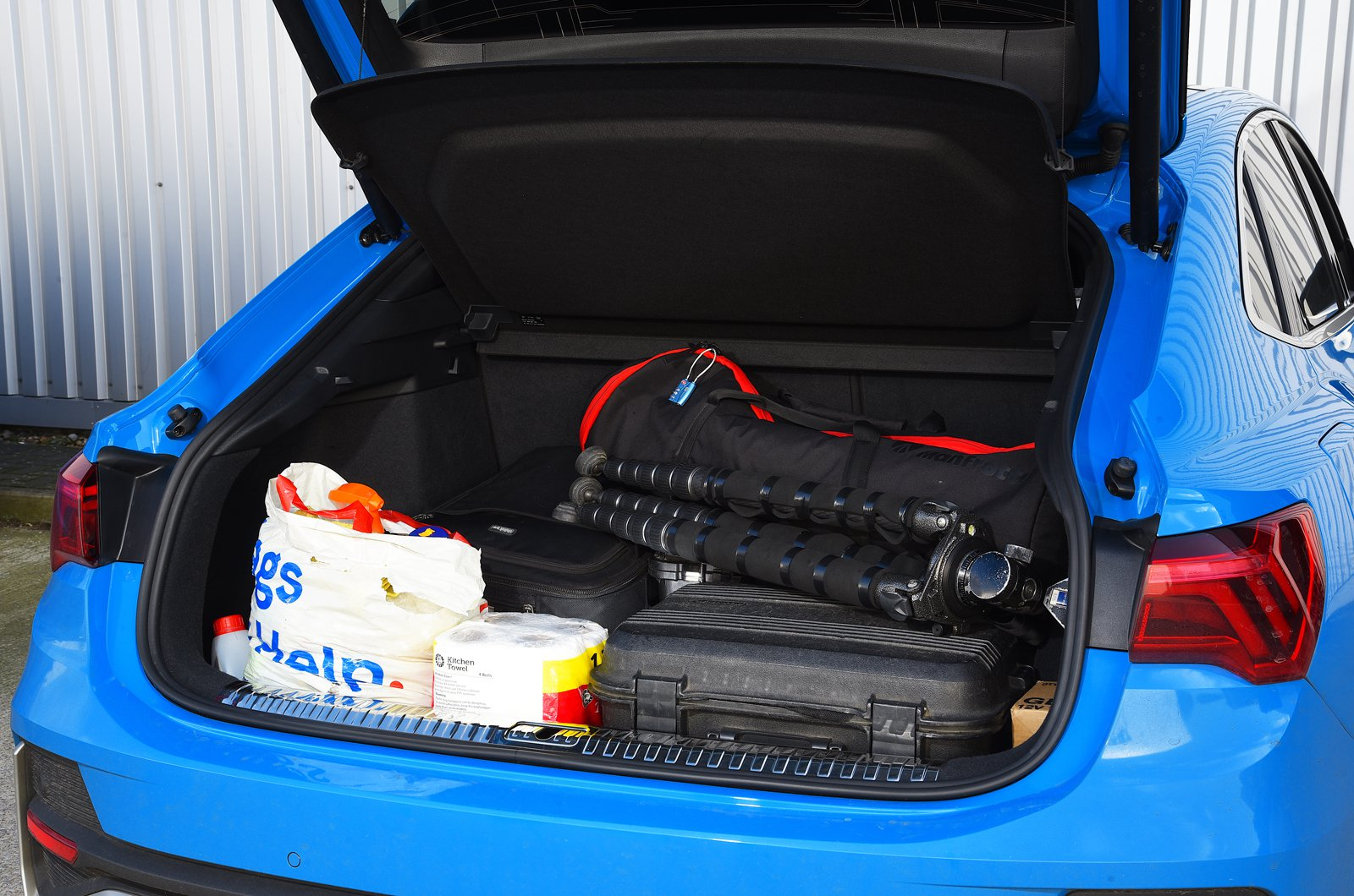 LT Audi Q3 Sportback boot filled with camera gear