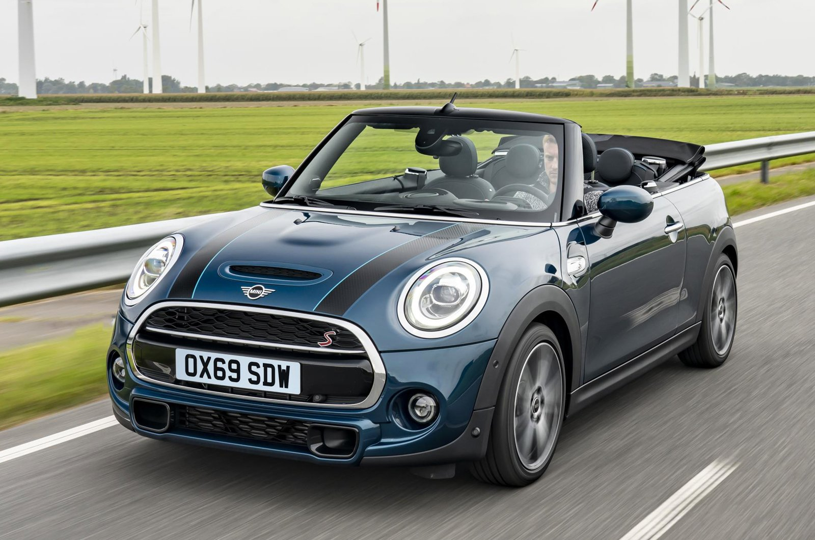 Mini Cooper S Convertible front - 69 plate