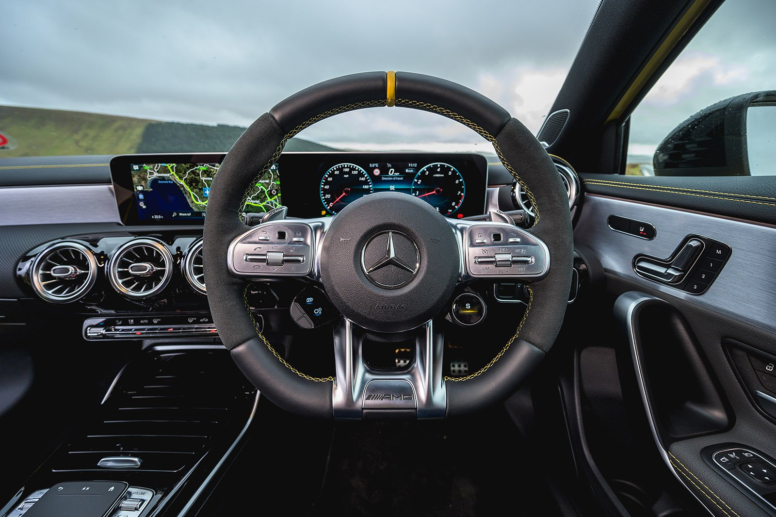 Mercedes A45 AMG 2020 RHD dashboard