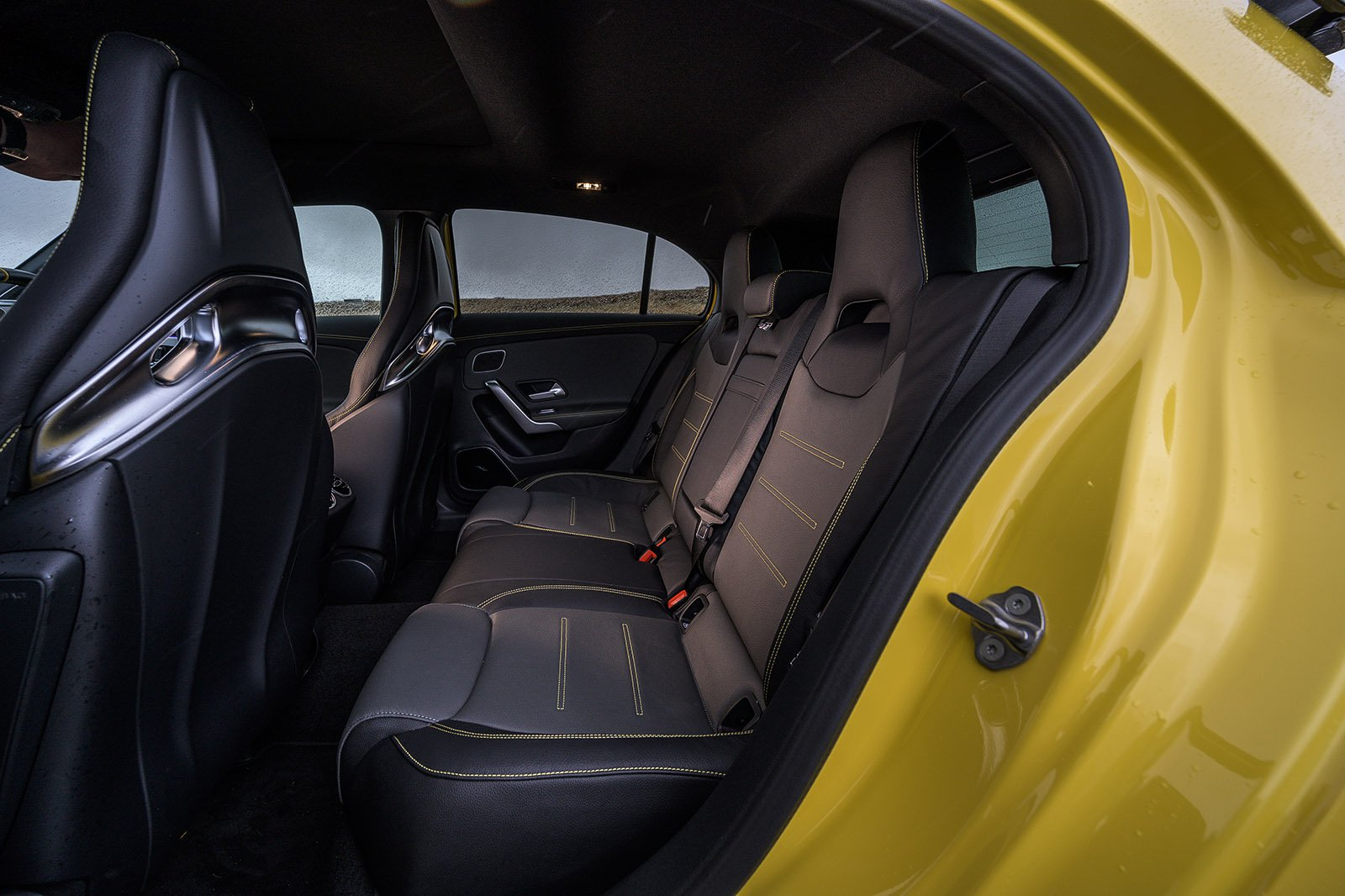 Mercedes A45 AMG 2020 RHD rear seats