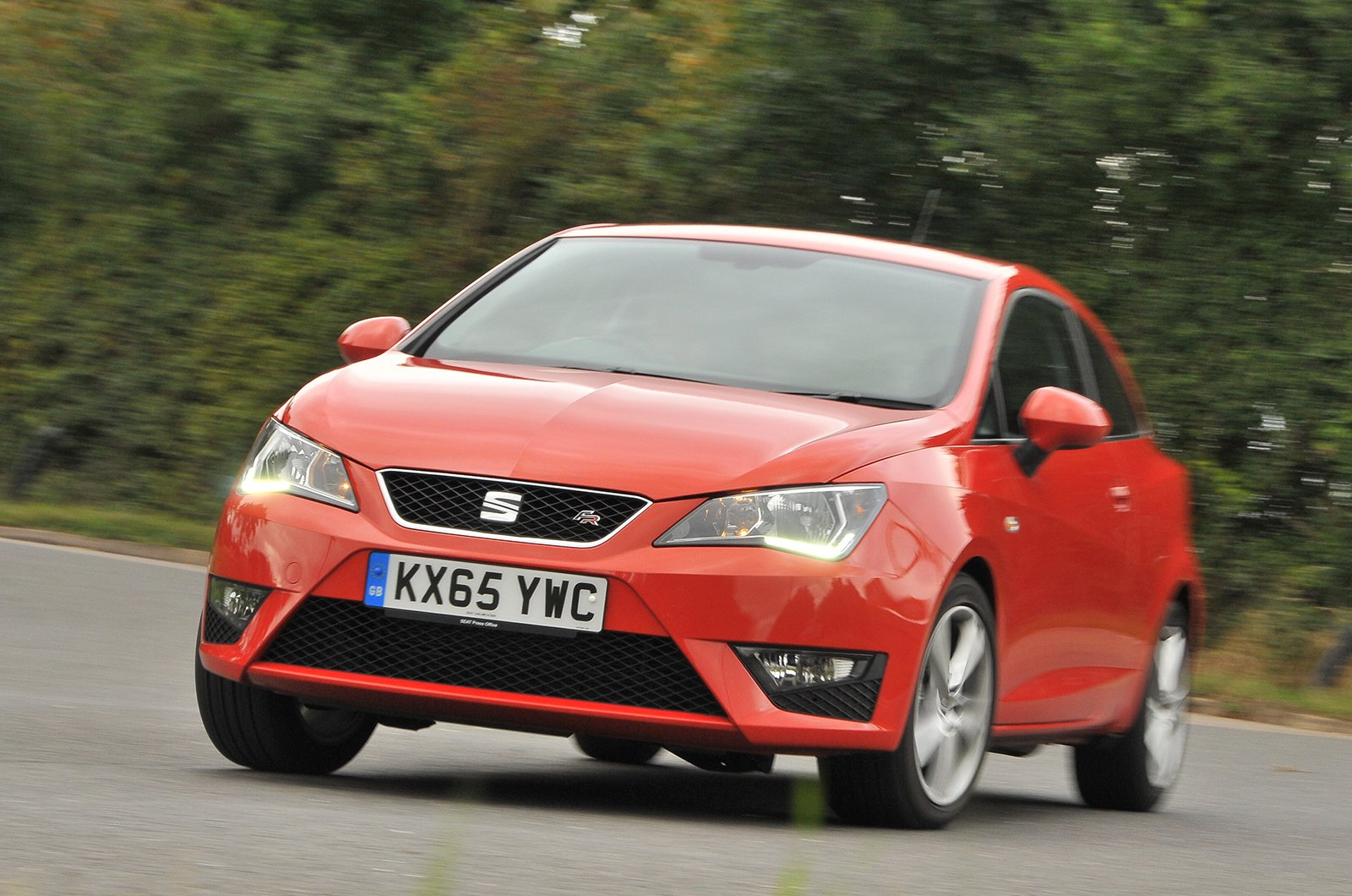 Seat Ibiza cornering front three quarters