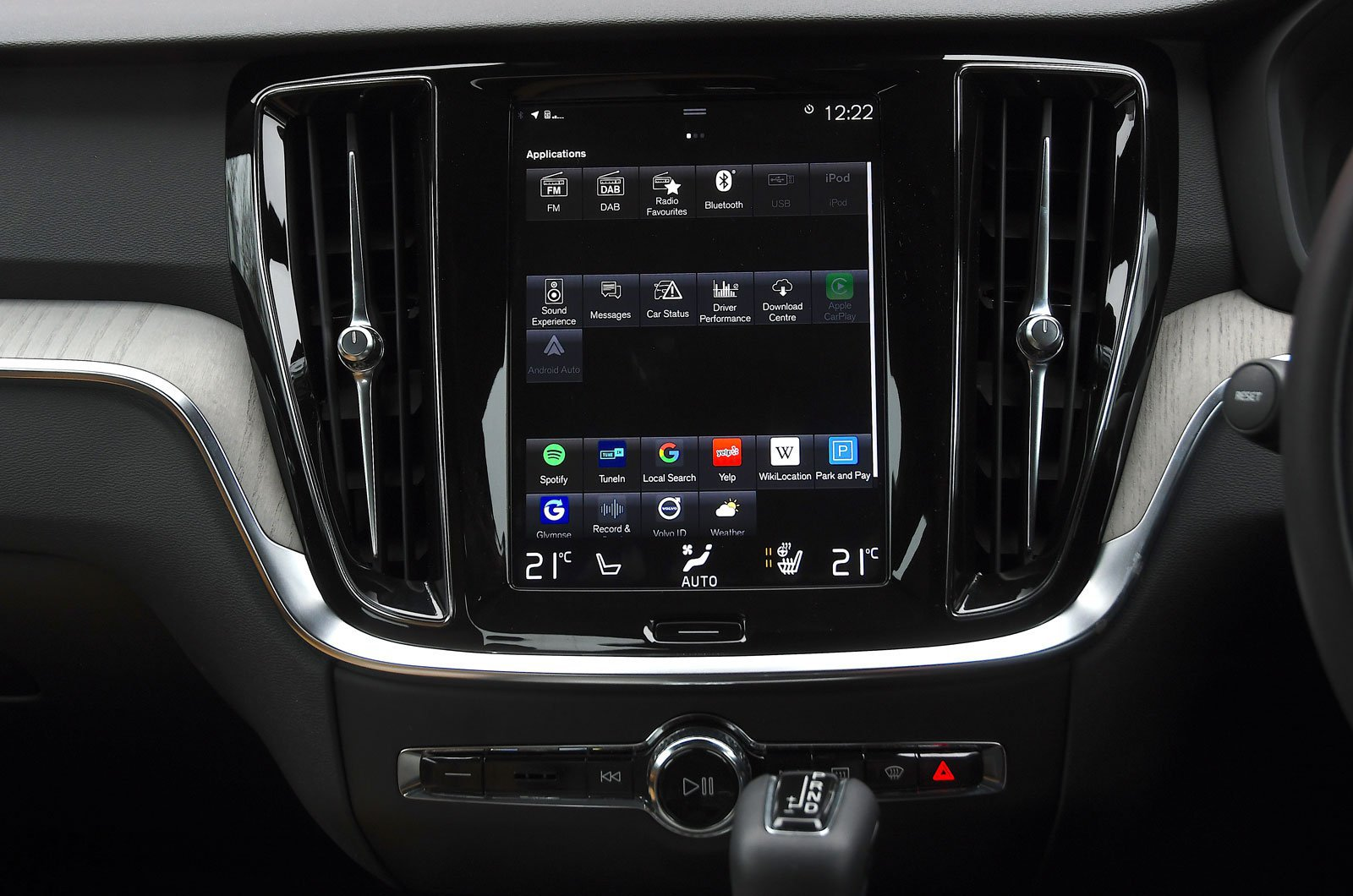 Volvo infotainment screen