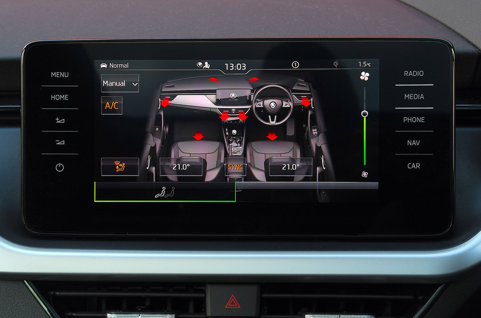Skoda infotainment screen