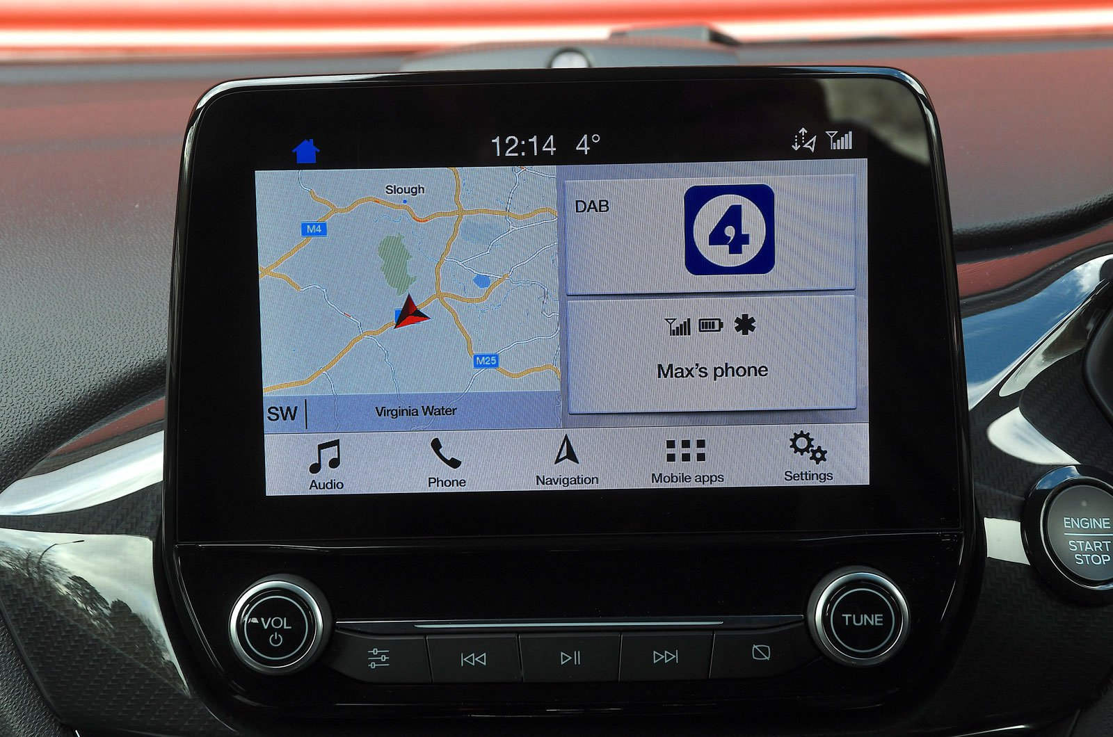 Ford infotainment screen