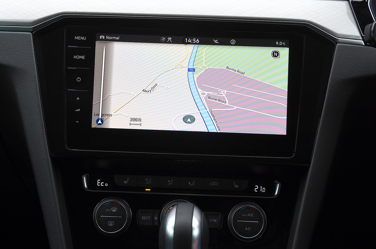 Volkswagen infotainment screen