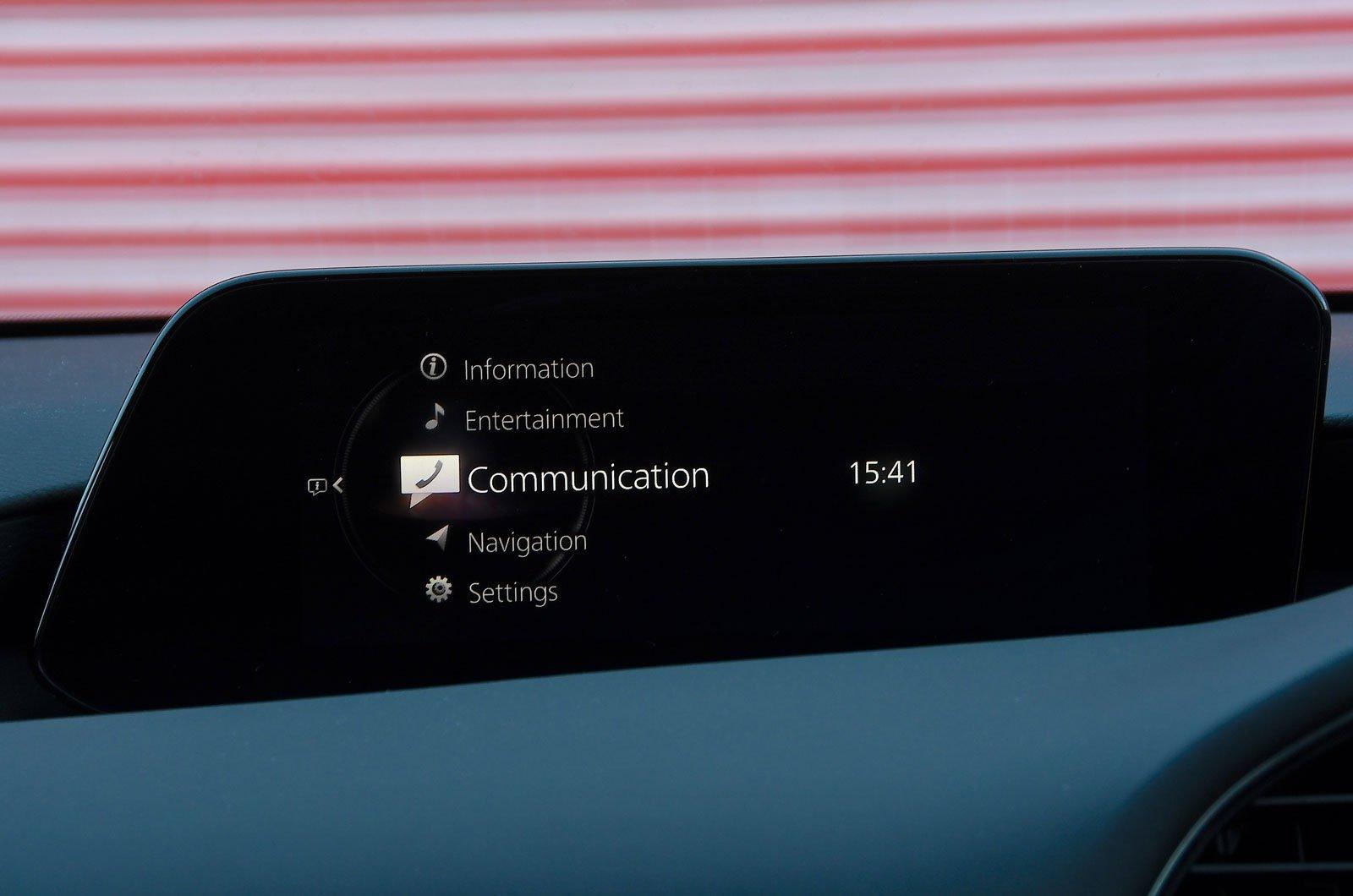 Mazda infotainment screen