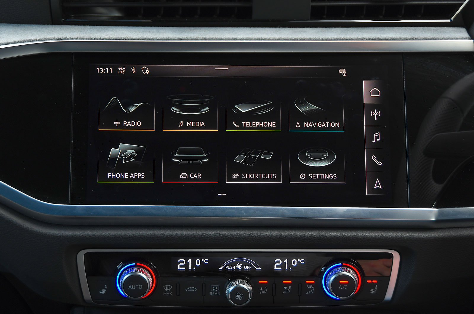 Audi infotainment screen