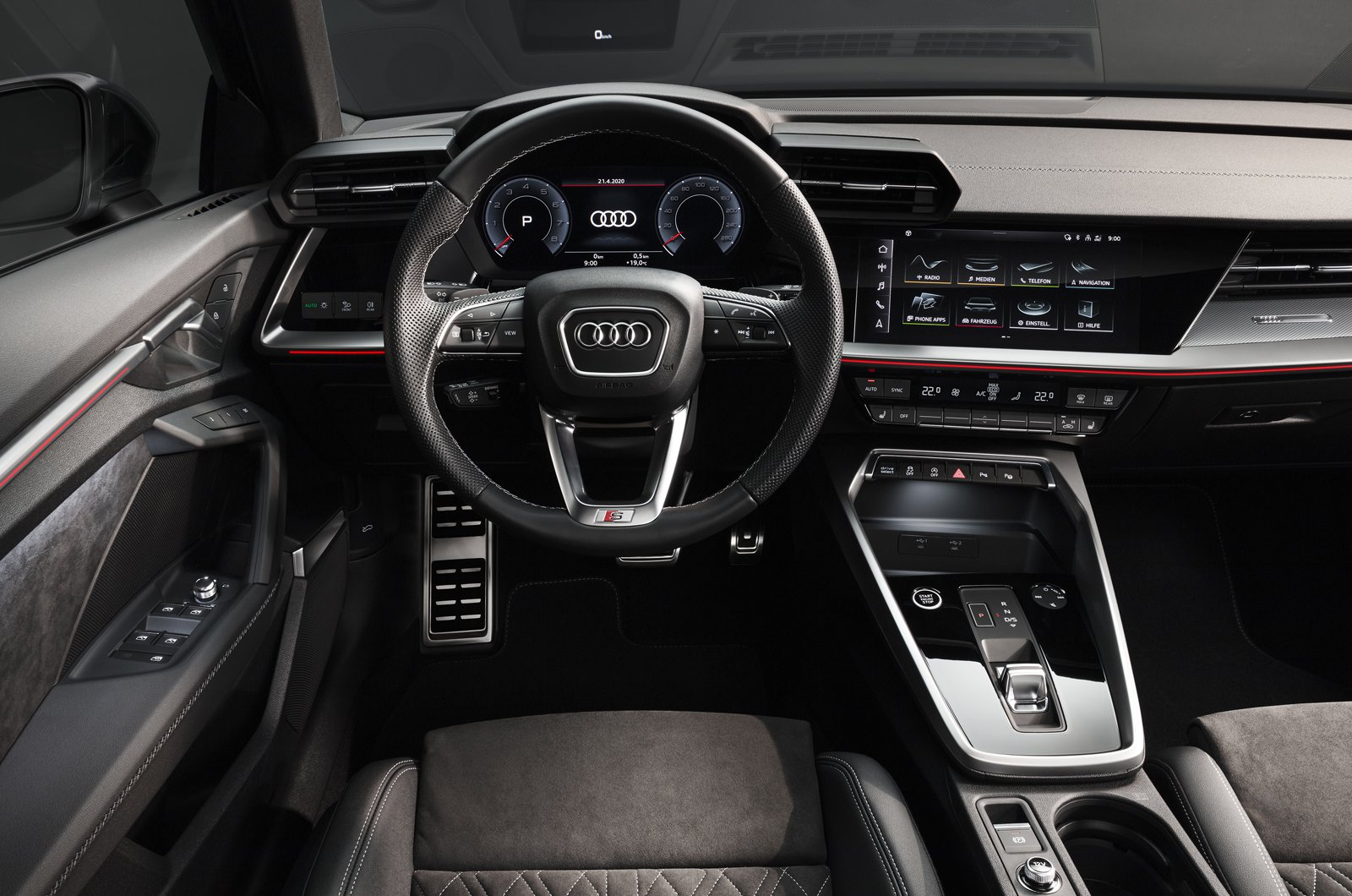 2020 Audi A3 Saloon dashboard