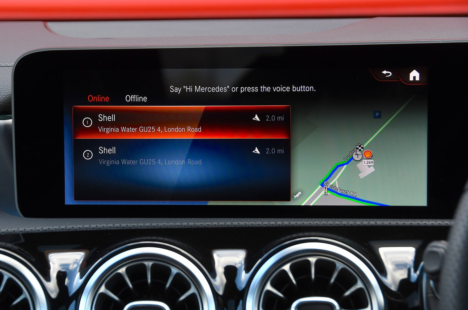 Mercedes-Benz infotainment screen
