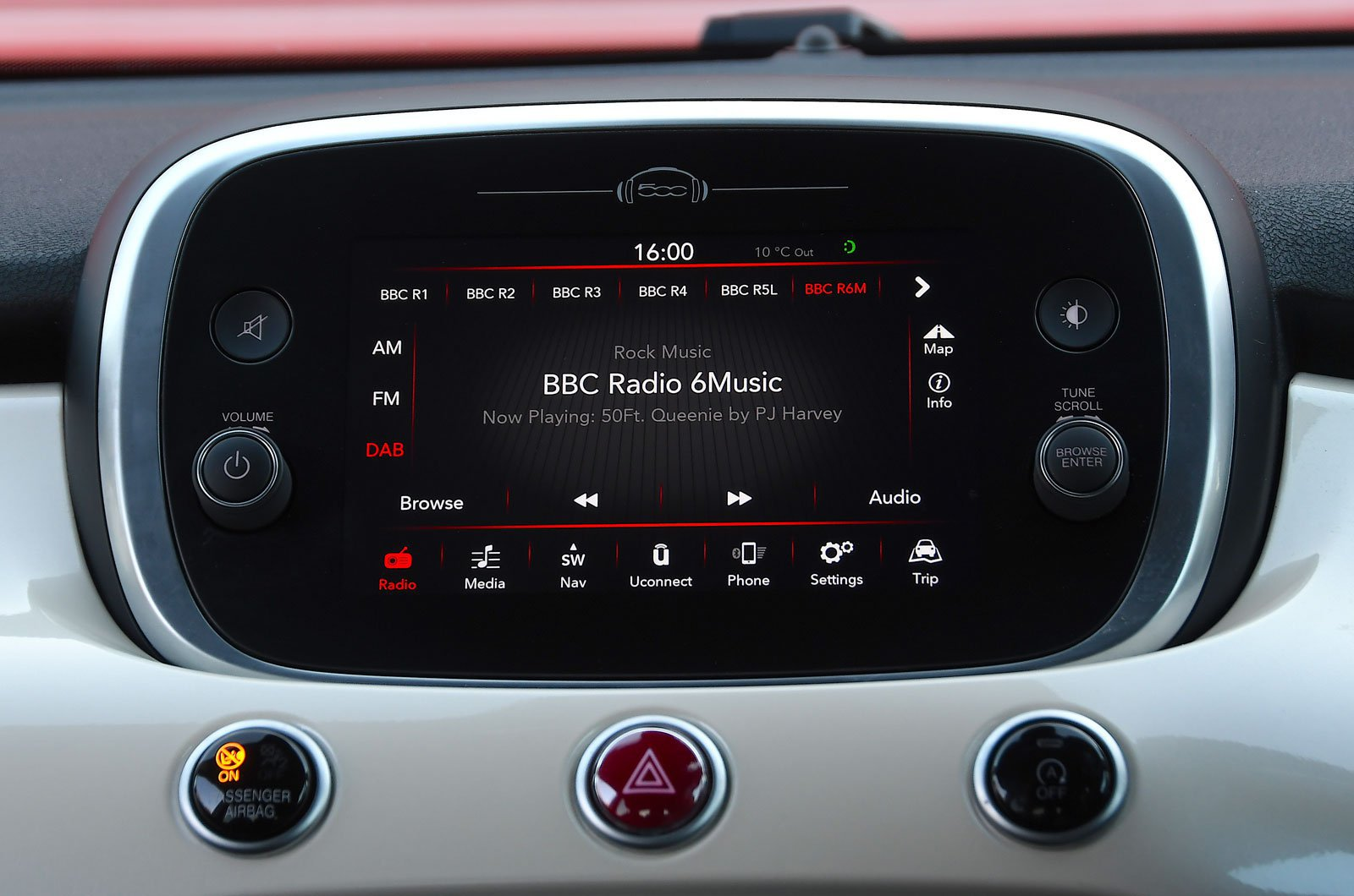 Fiat infotainment screen