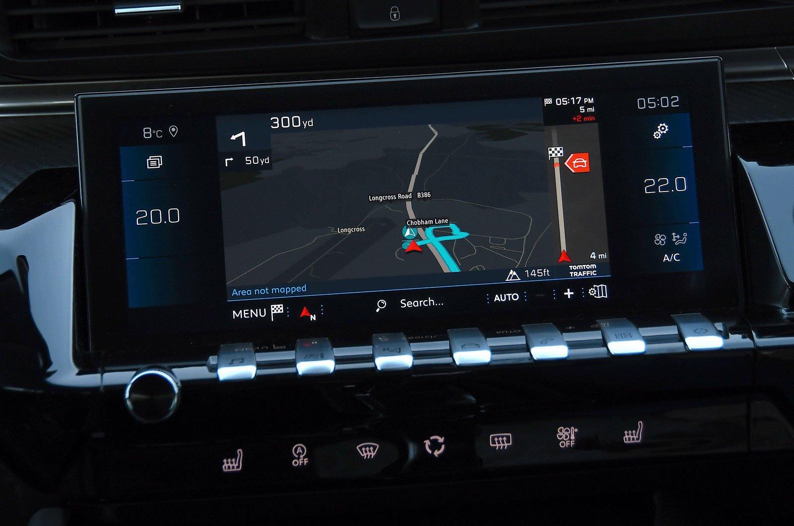 Peugeot infotainment screen