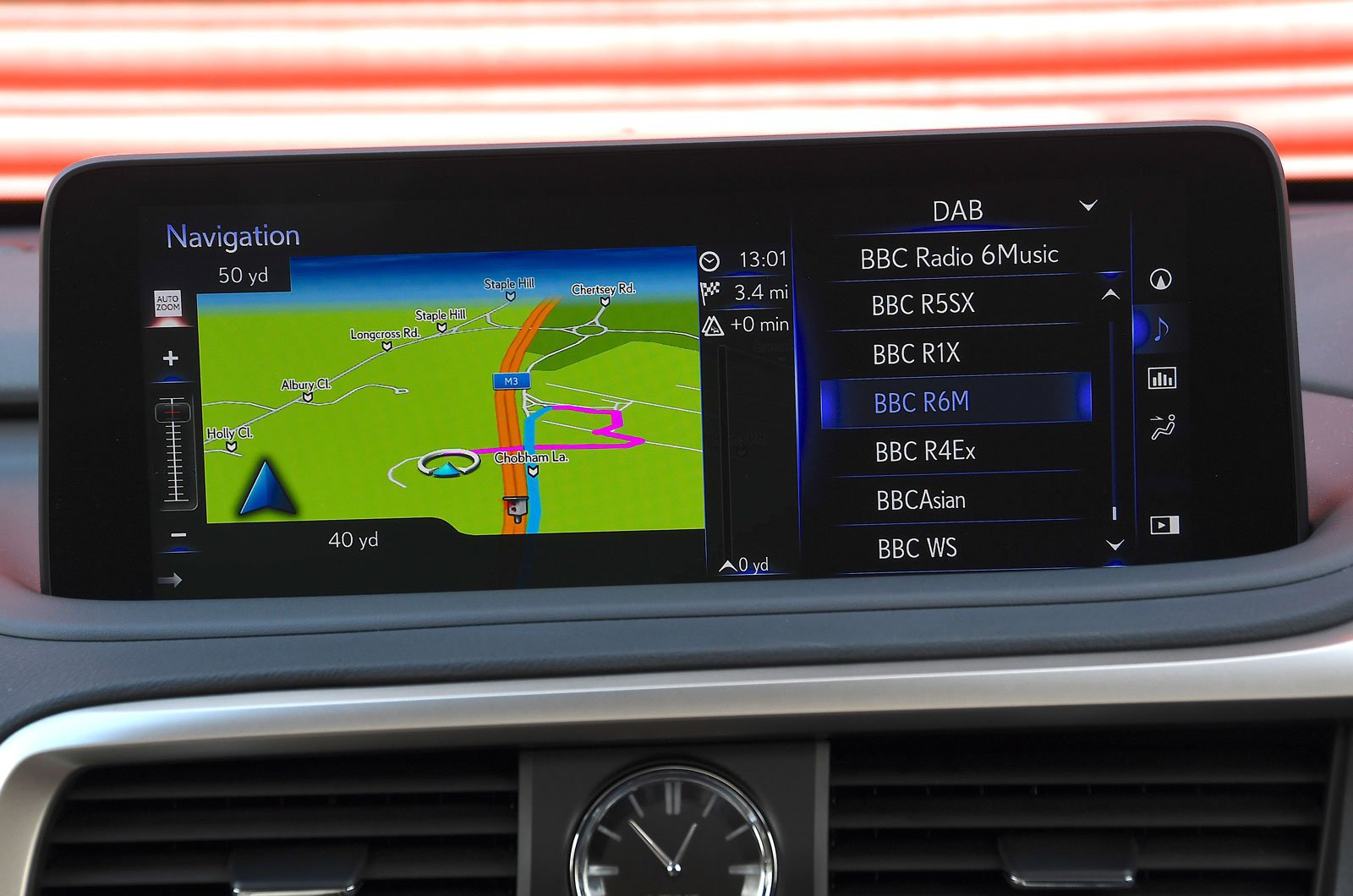 Lexus infotainment screen