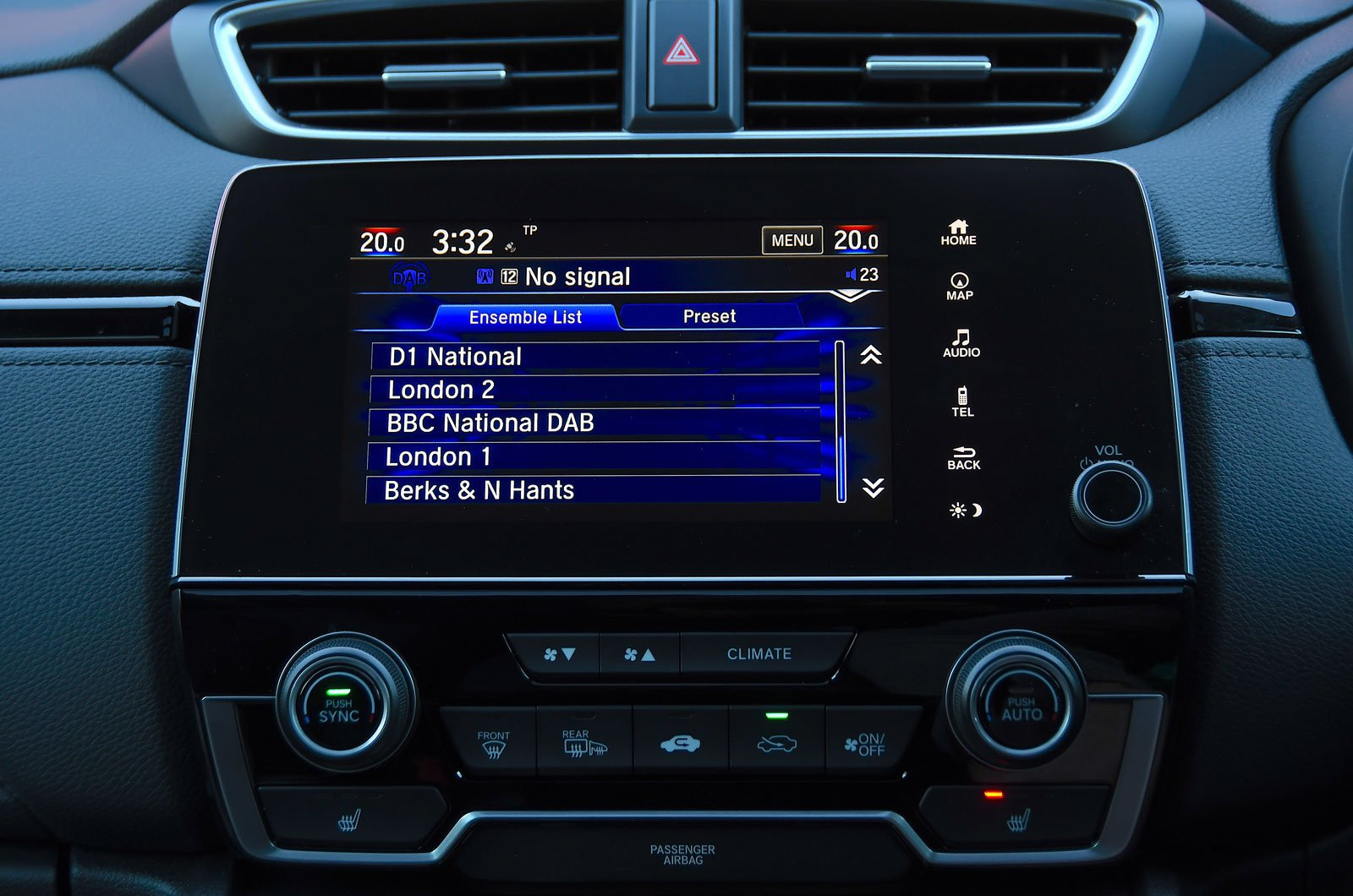 Honda infotainment screen