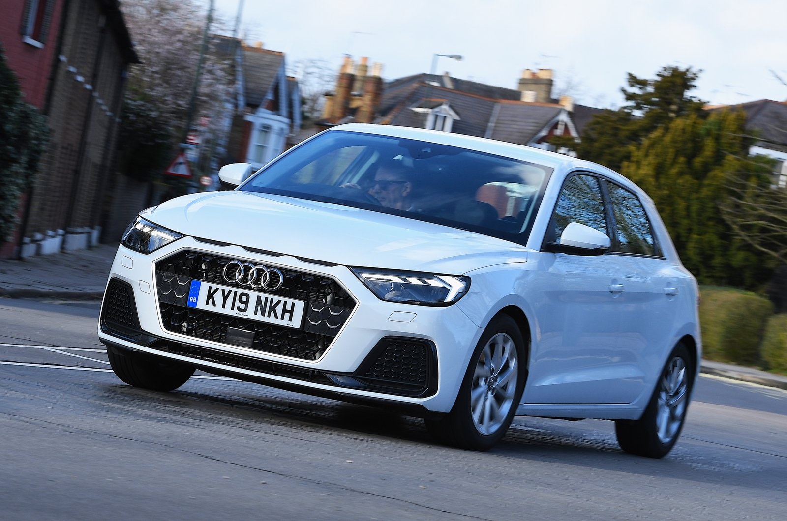 Audi A1 front - white 19-plate car