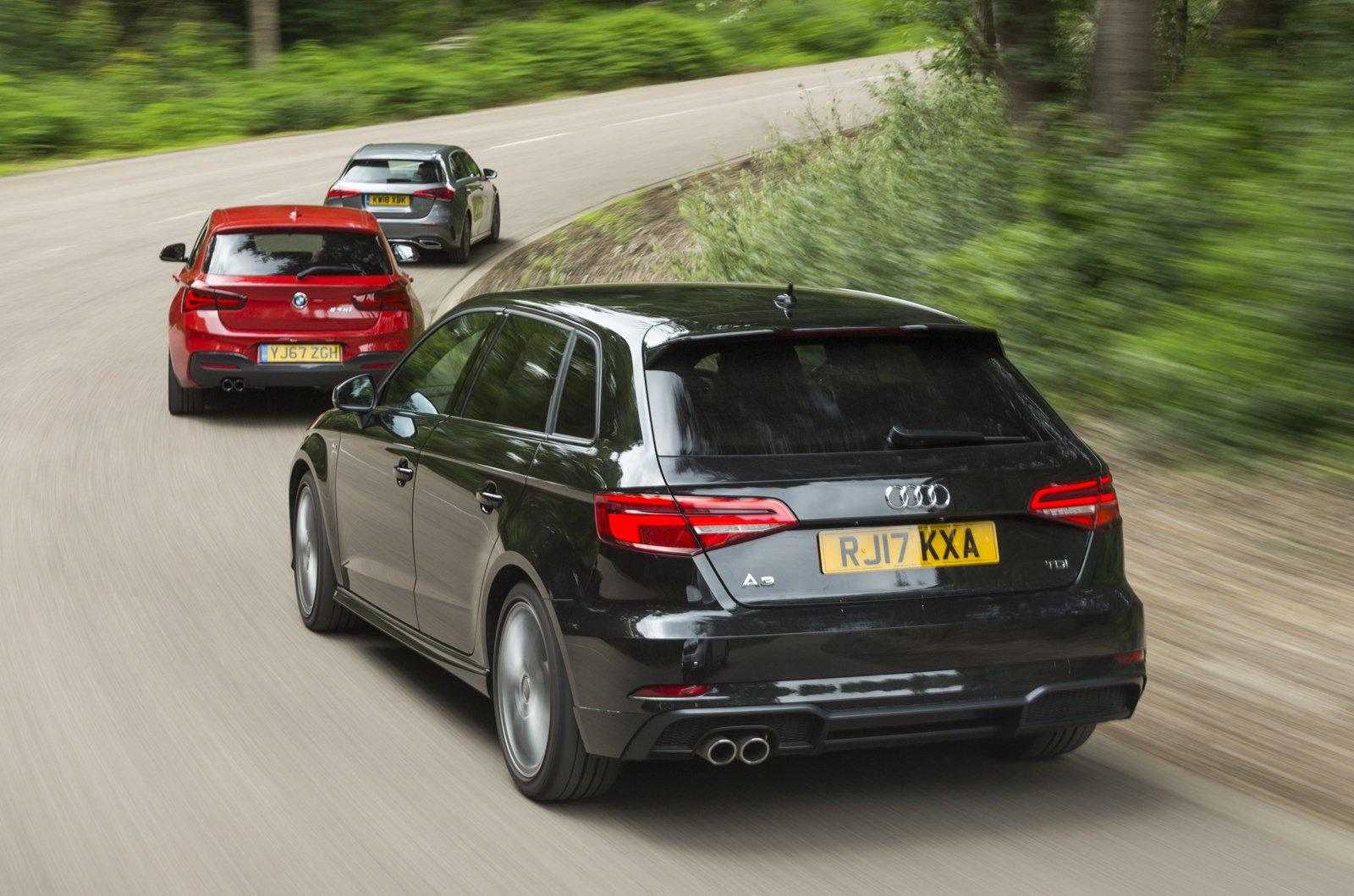 Audi A3 vs BMW 1 Series vs Mercedes A-Class rear