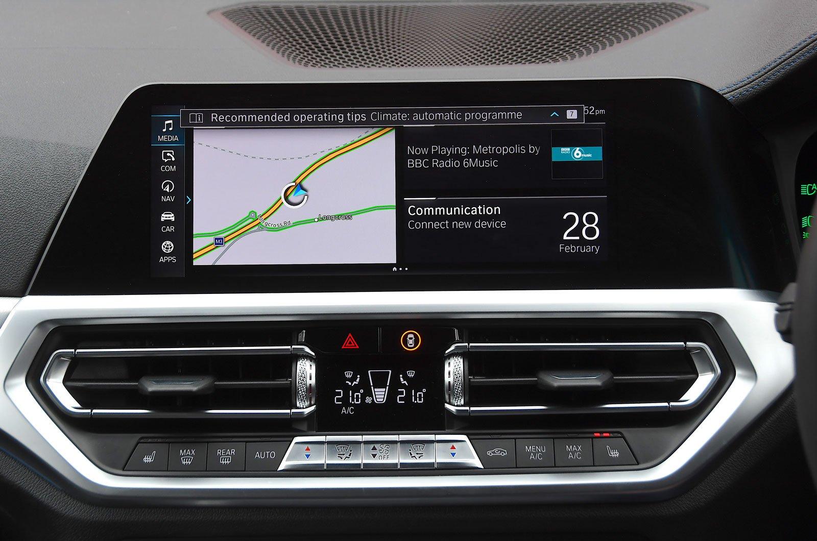 Infotainment test BMW 3 Series