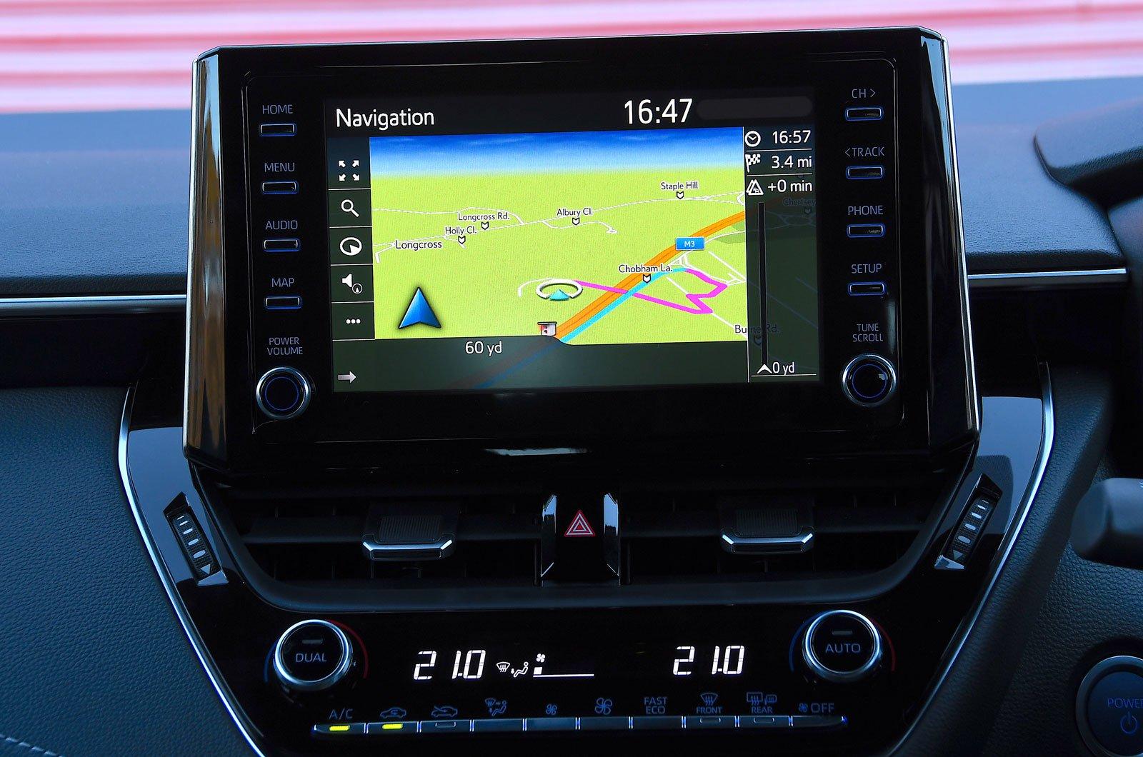 Infotainment test Toyota Corolla