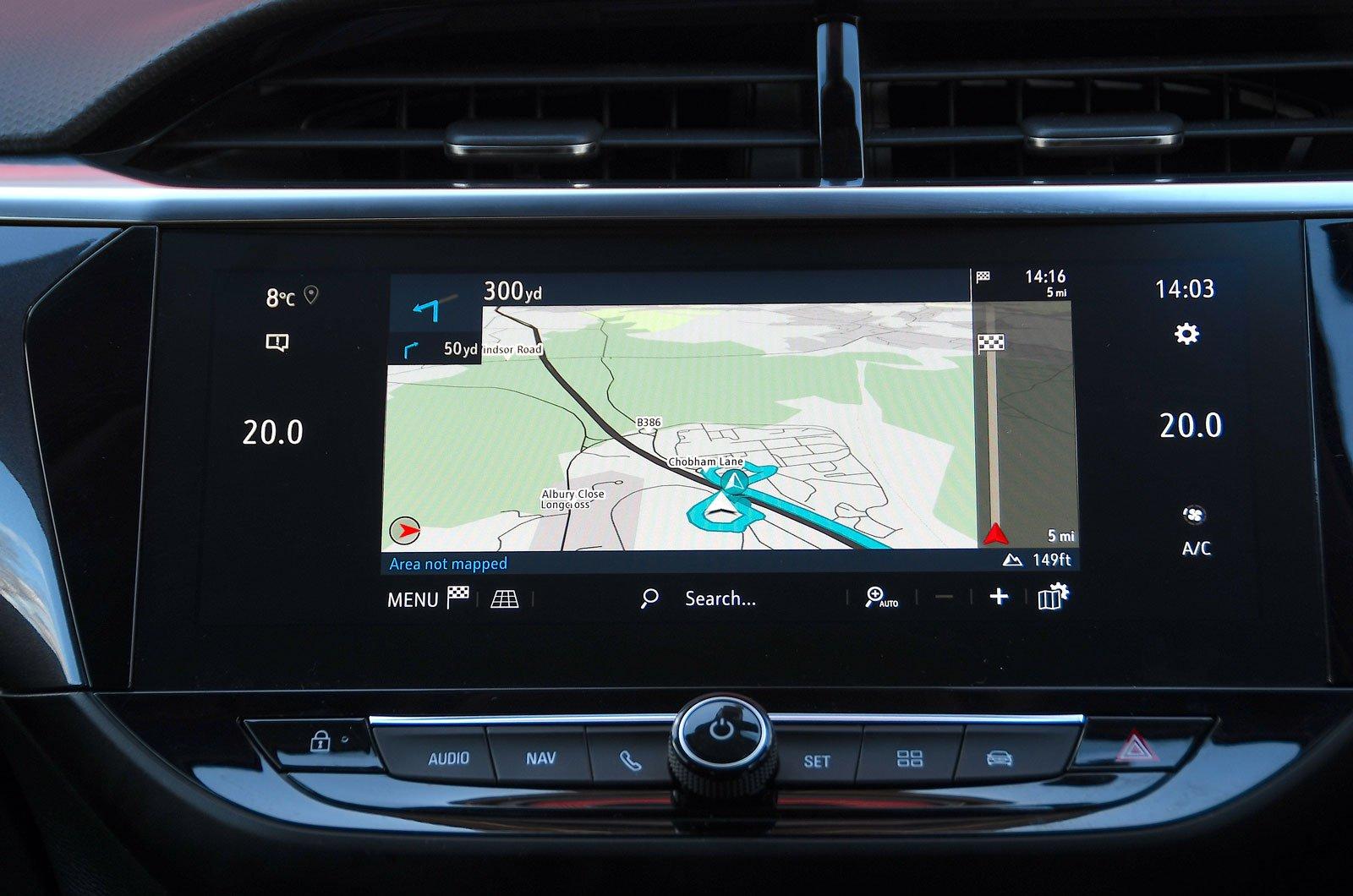 Infotainment test Vauxhall Corsa